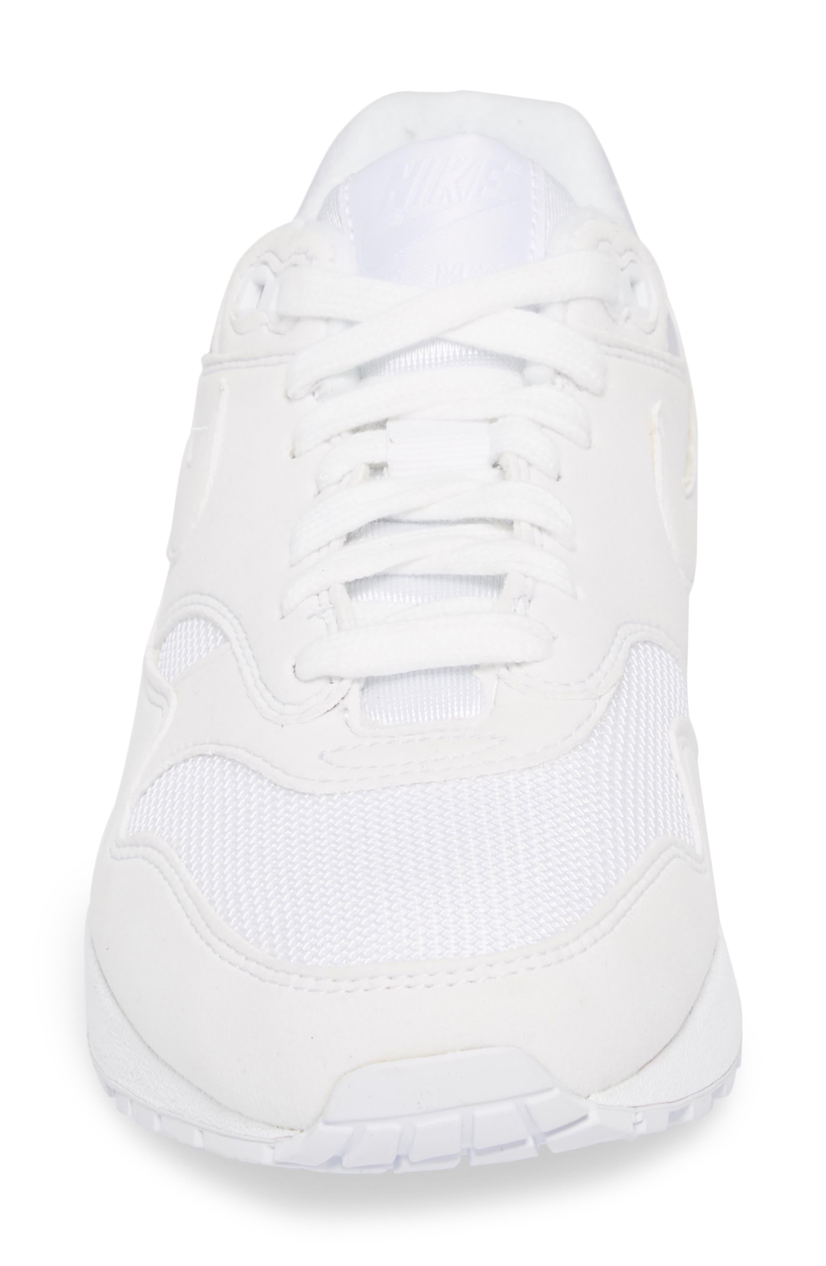 'Air Max 1 ND' Sneaker,                             Alternate thumbnail 4, color,                             WHITE/ WHITE/ PURE PLATINUM