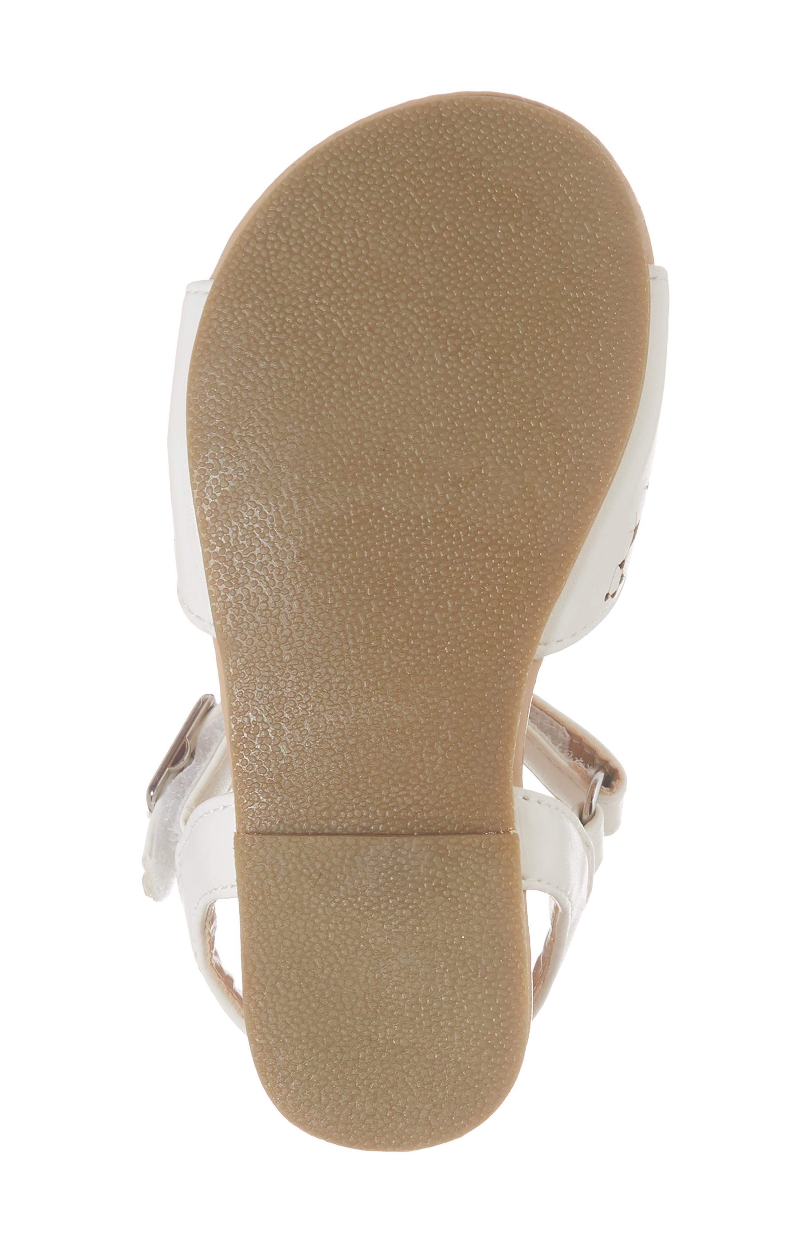 Kiera Perforated Sandal,                             Alternate thumbnail 6, color,                             100