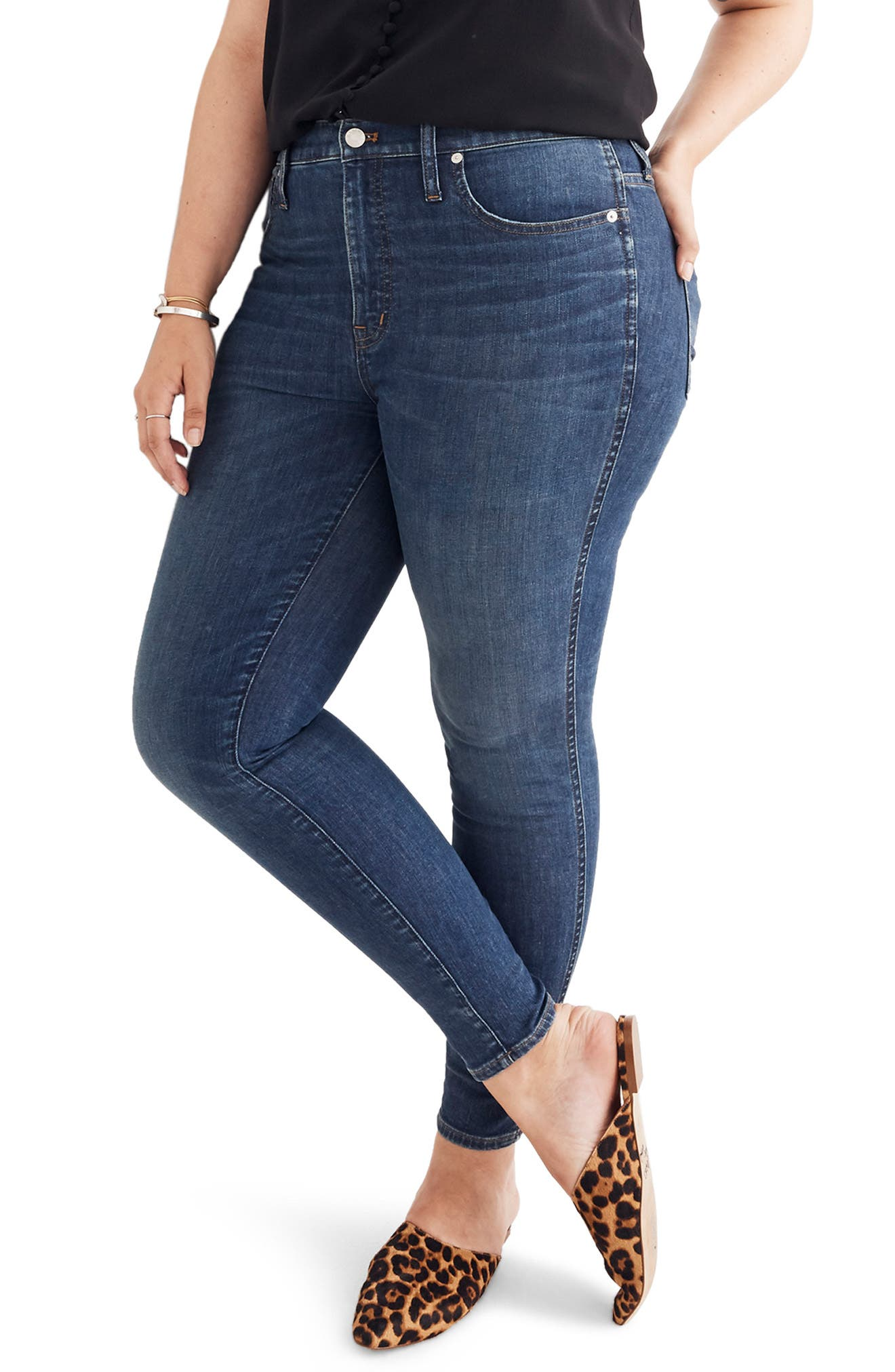 Eco Collection High Rise Skinny Jeans,                             Alternate thumbnail 2, color,                             ELINOR