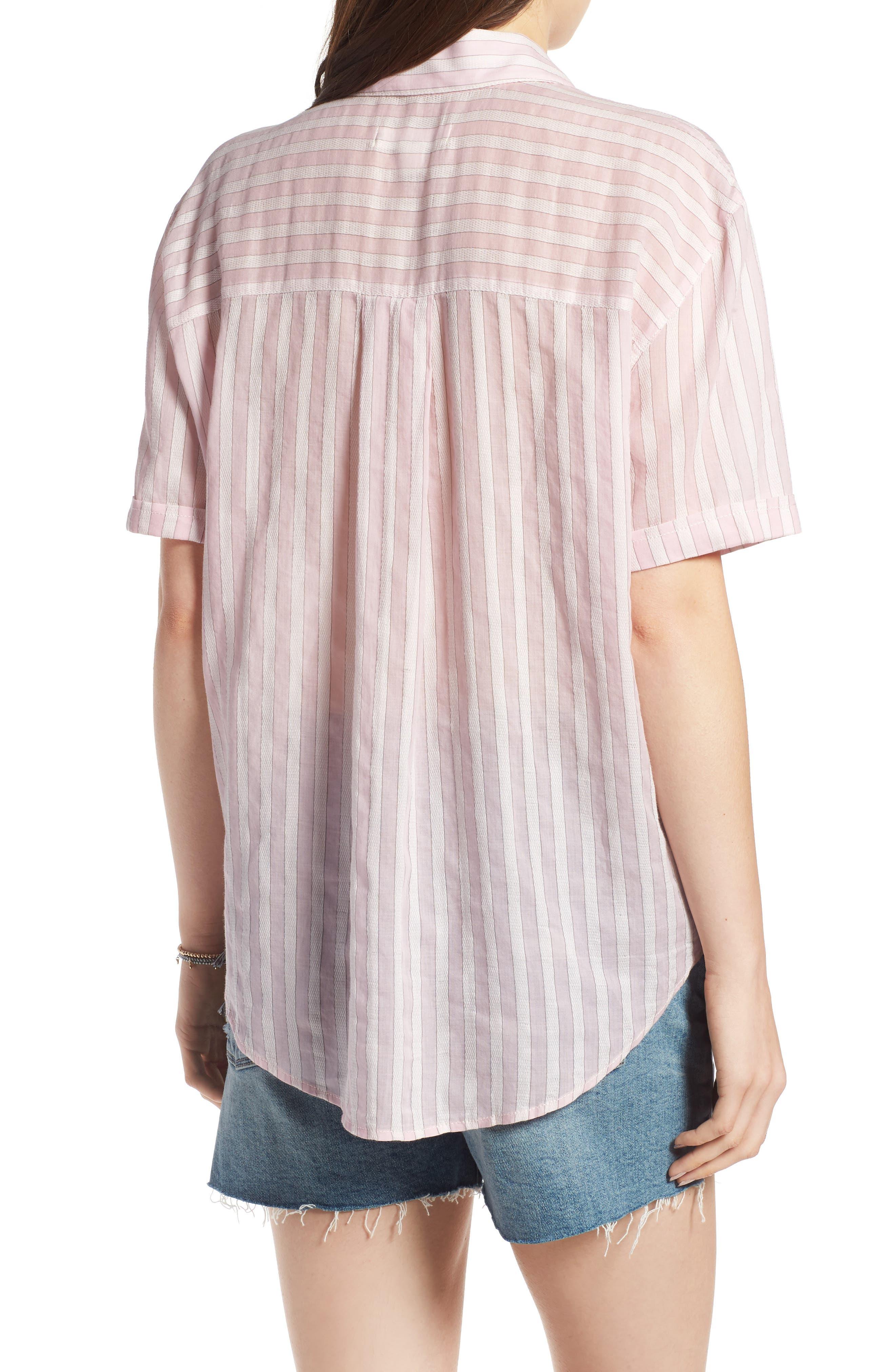 Stripe Shirt,                             Alternate thumbnail 2, color,                             PINK OPAL TAILOR STRIPE