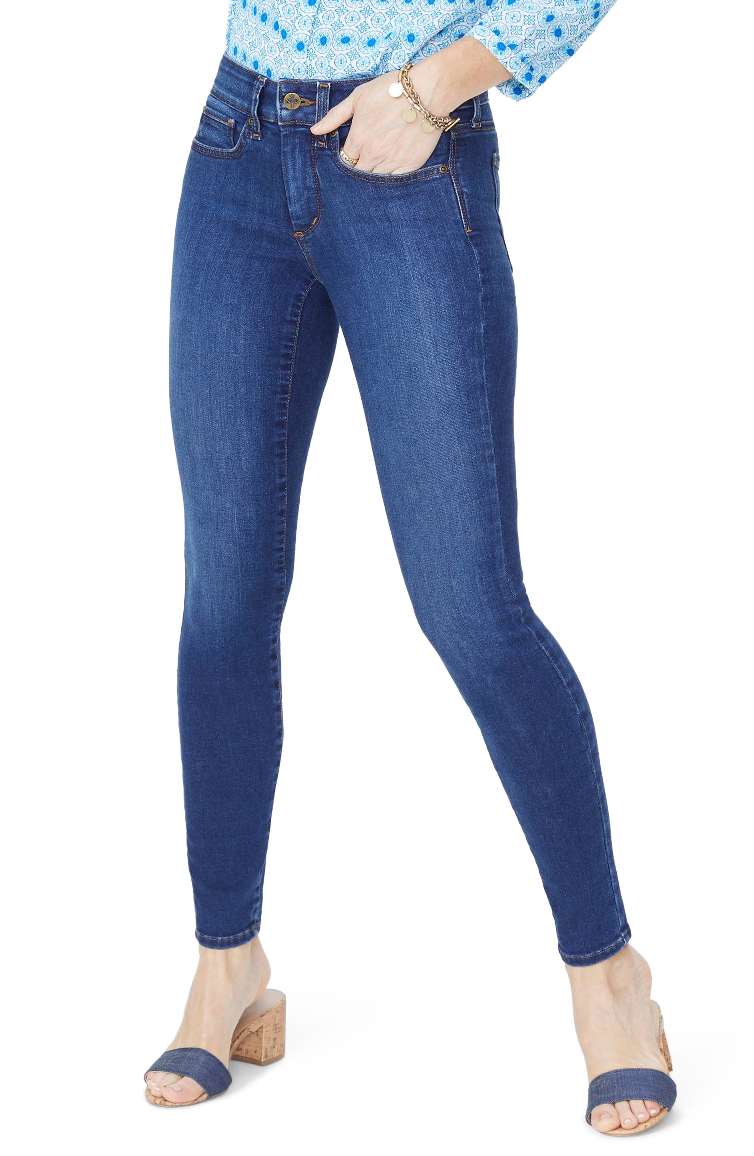 Ami High Waist Stretch Skinny Jeans,                             Main thumbnail 1, color,                             COOPER