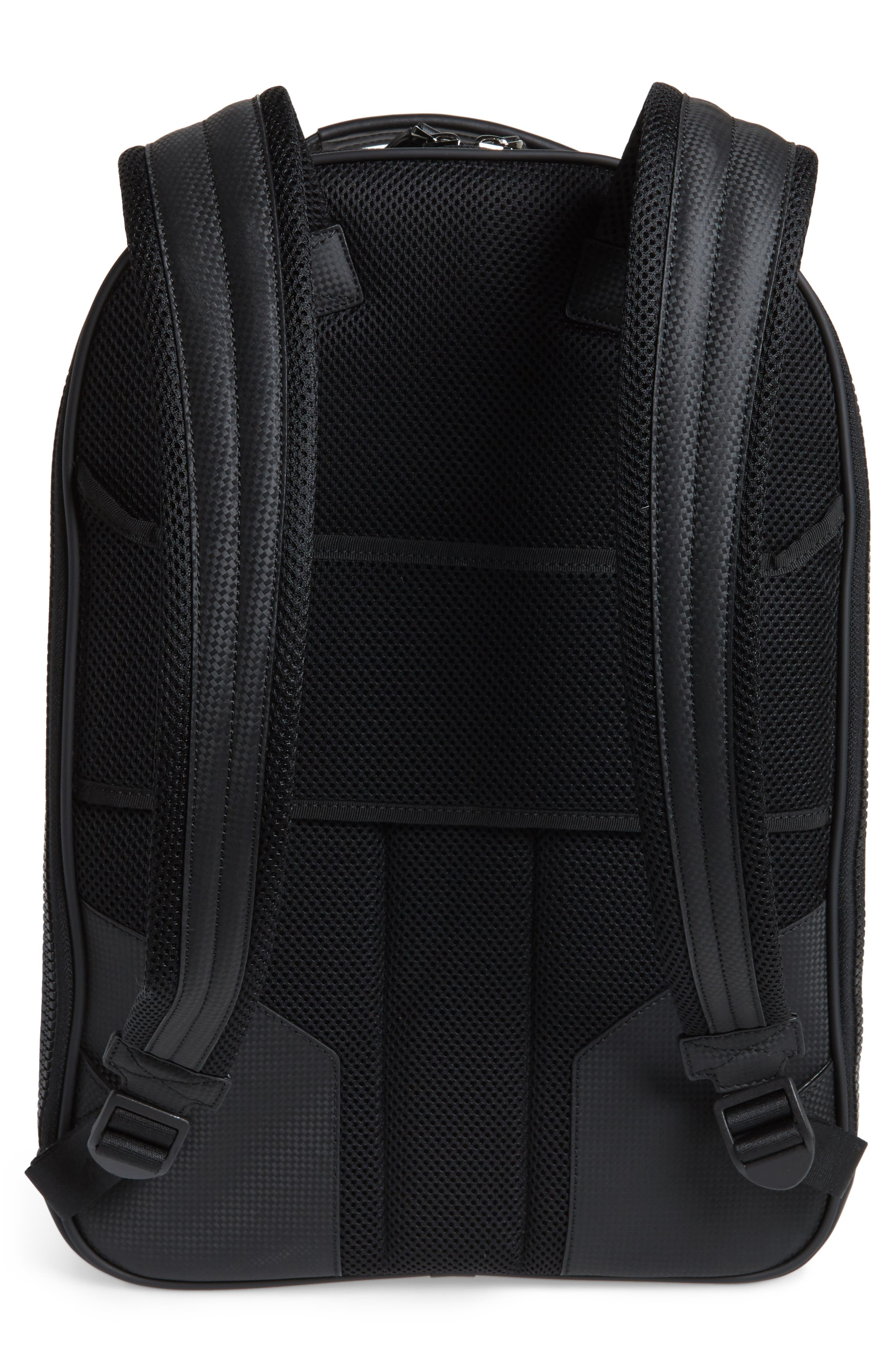 Extreme Leather Backpack,                             Alternate thumbnail 3, color,                             BLACK