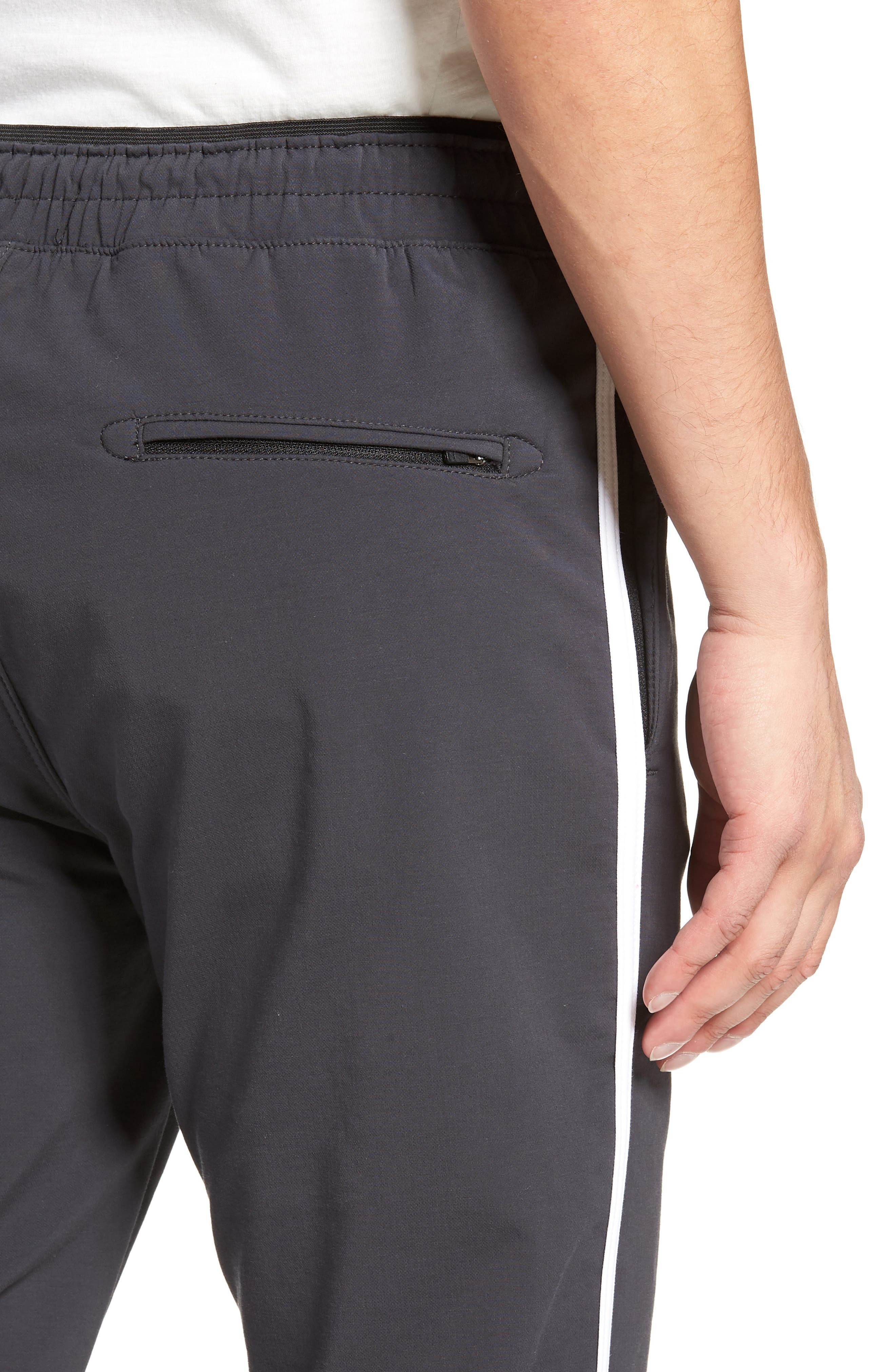 Jumpshot Slim Track Pants,                             Alternate thumbnail 4, color,                             VINTAGE BLACK