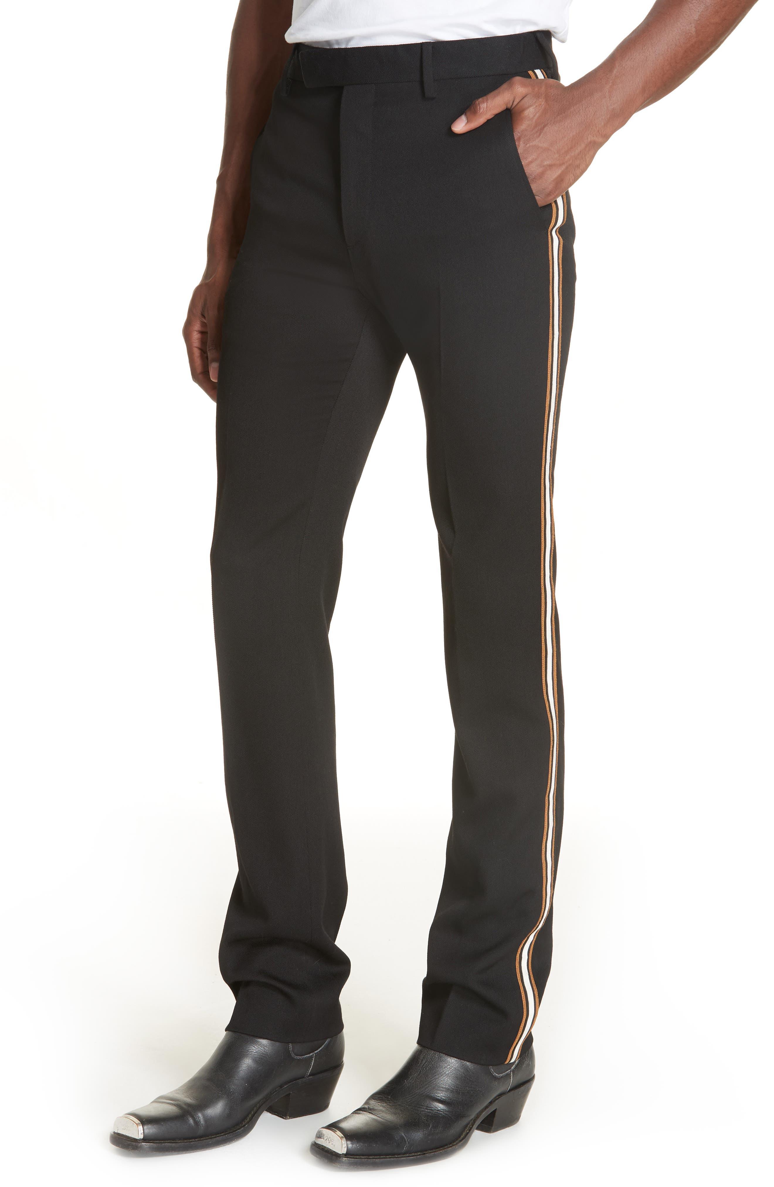 CALVIN KLEIN 205W39NYC,                             Uniform Stripe Trousers,                             Alternate thumbnail 4, color,                             060