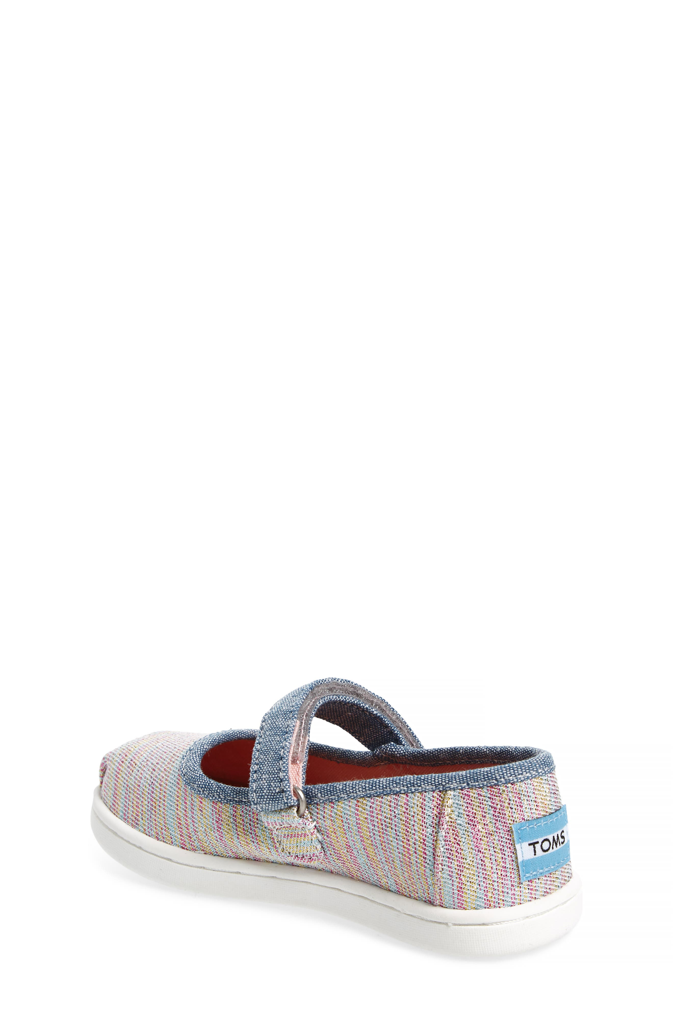 Mary Jane Sneaker,                             Alternate thumbnail 2, color,                             PINK MULTI TWILL GLIMMER