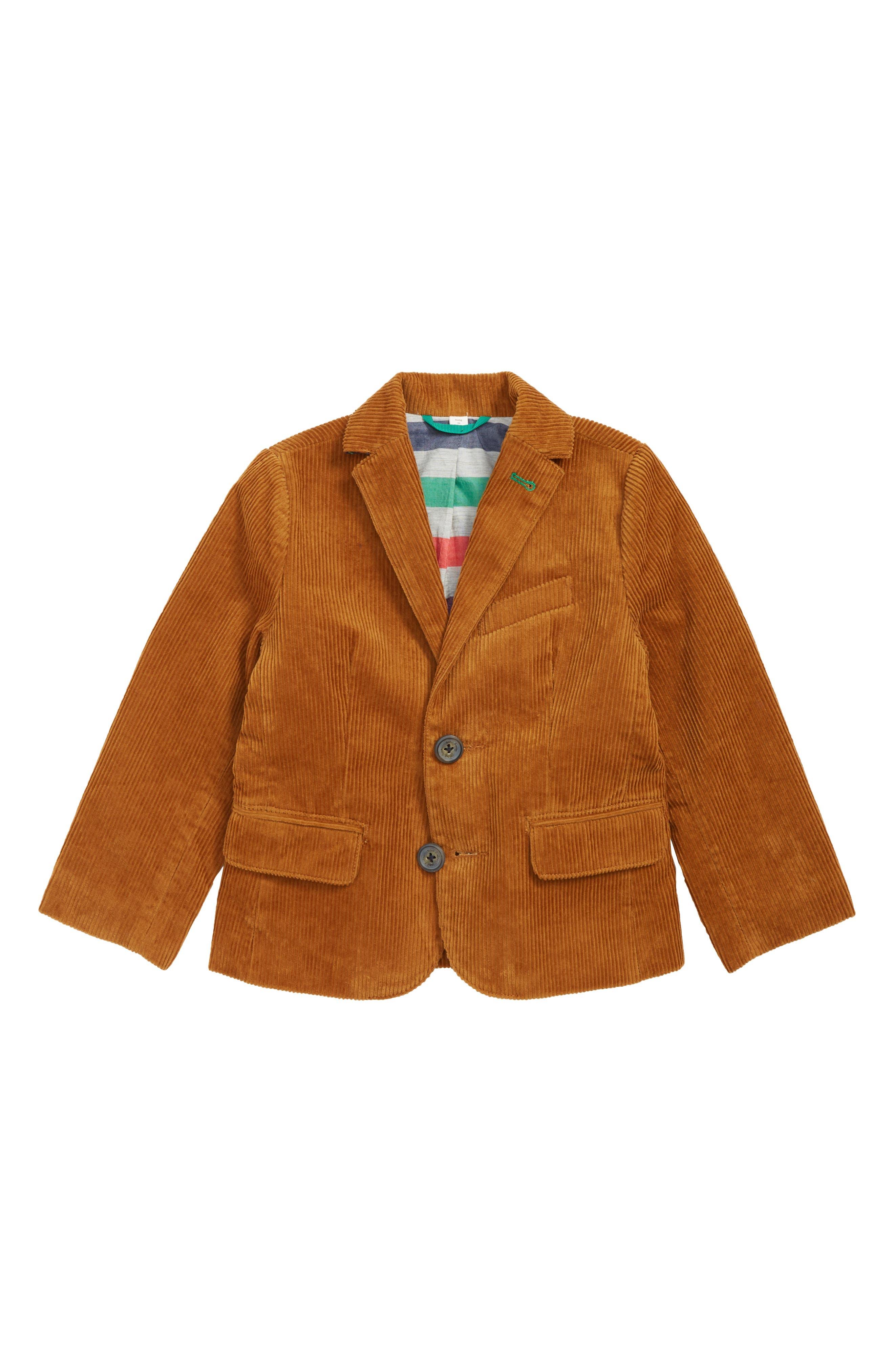 Boys Mini Boden Corduroy Blazer Size 45Y  Brown
