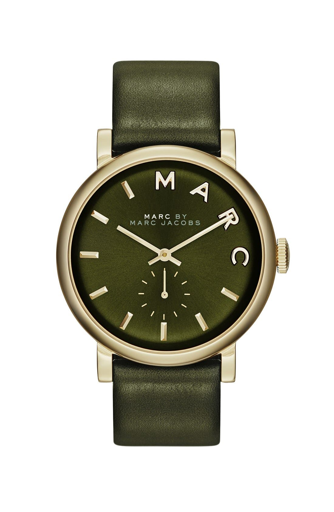 'Baker' Leather Strap Watch, 37mm,                             Main thumbnail 7, color,