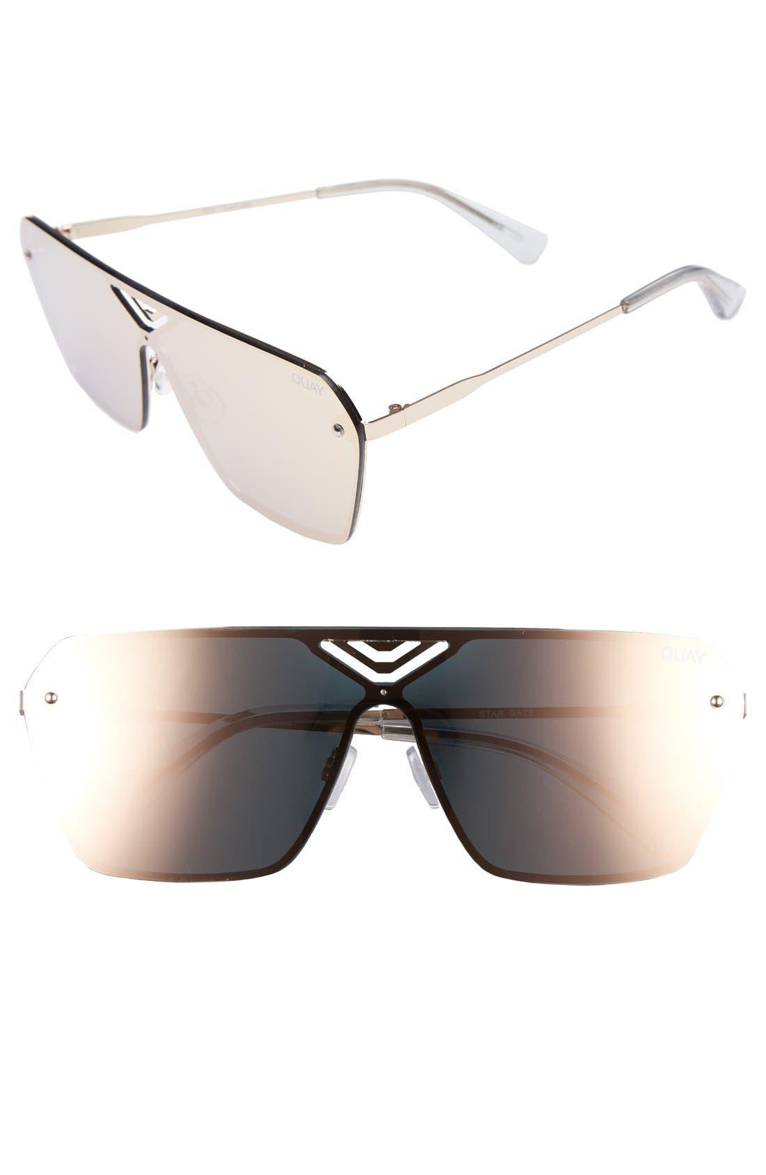 Star Gaze 68mm Mirrored Shield Sunglasses,                             Main thumbnail 1, color,                             710
