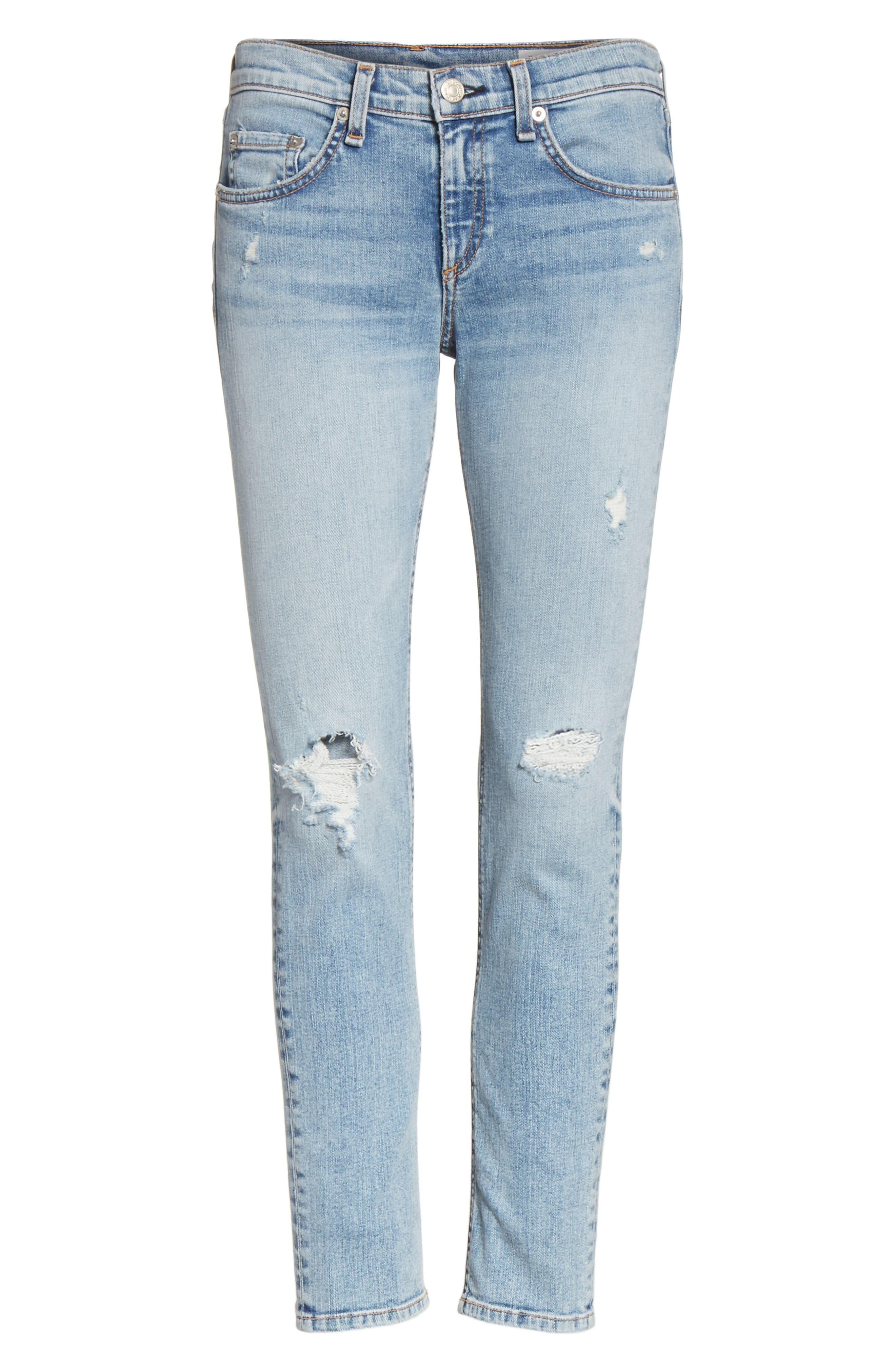 Ankle Skinny Jeans,                             Alternate thumbnail 7, color,                             450