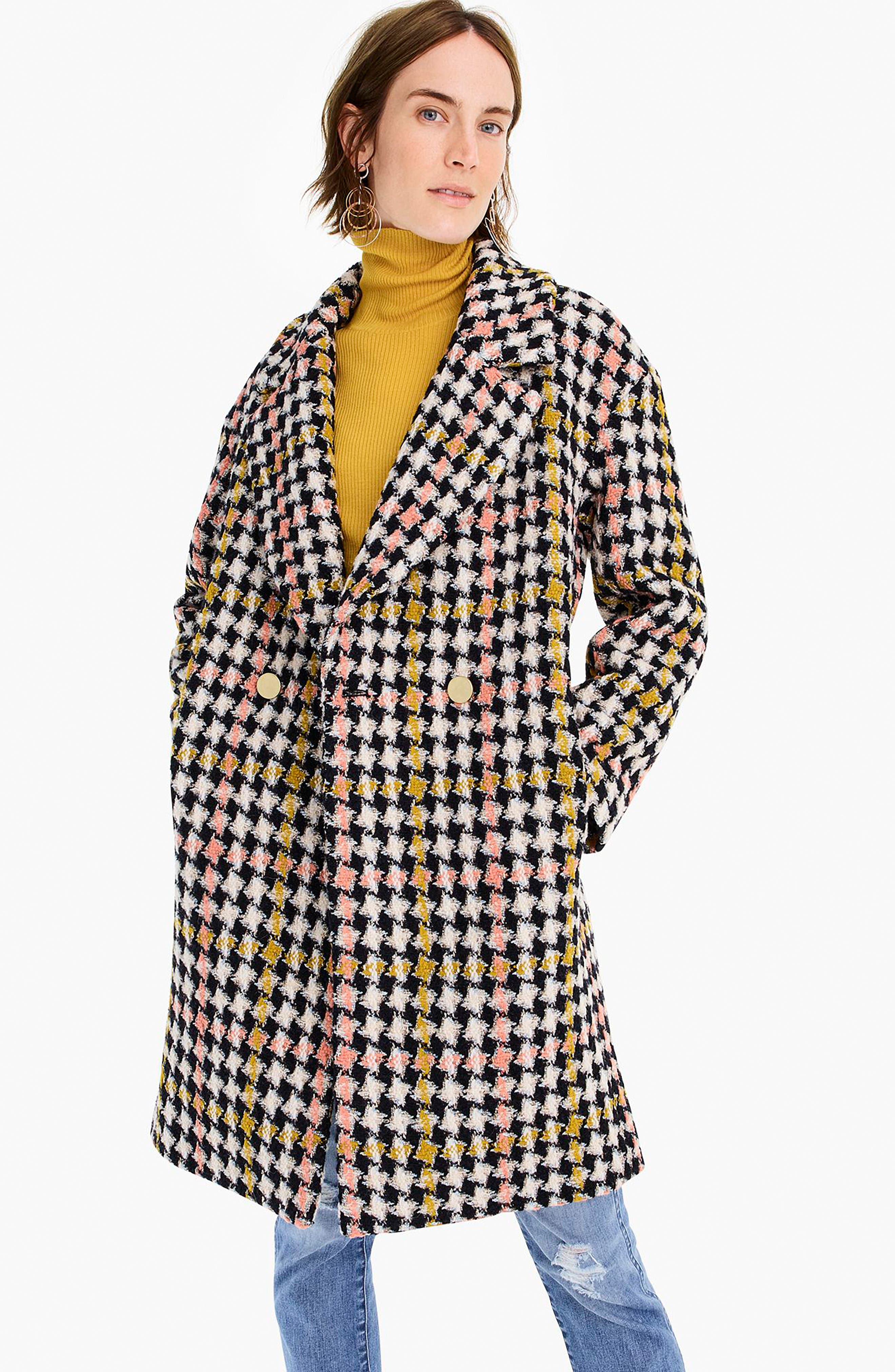 Collection Oversize Lurex<sup>®</sup> Tweed Coat,                             Alternate thumbnail 7, color,                             650