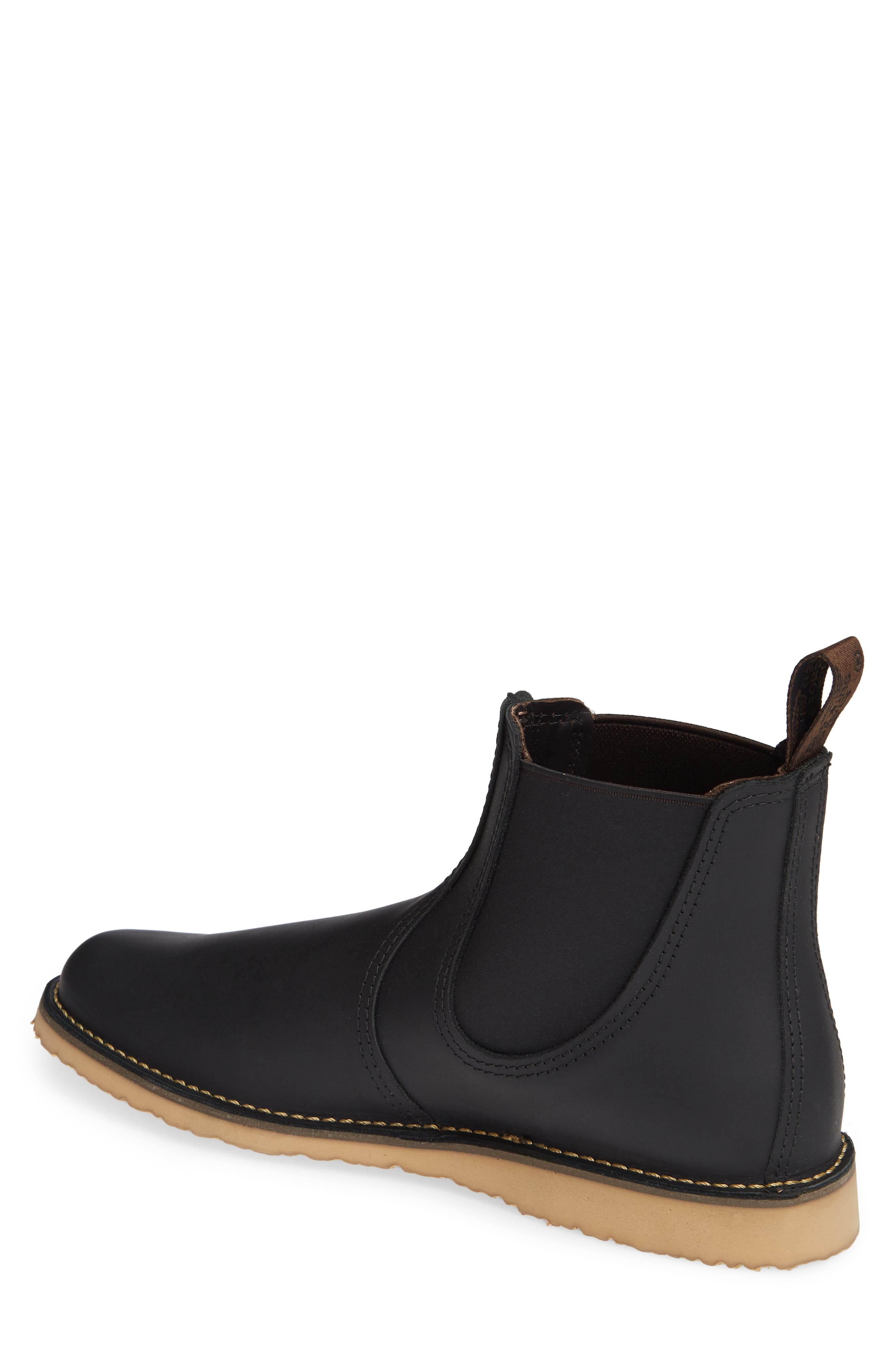 RED WING,                             Chelsea Boot,                             Alternate thumbnail 2, color,                             BLACK HARNESS LEATHER