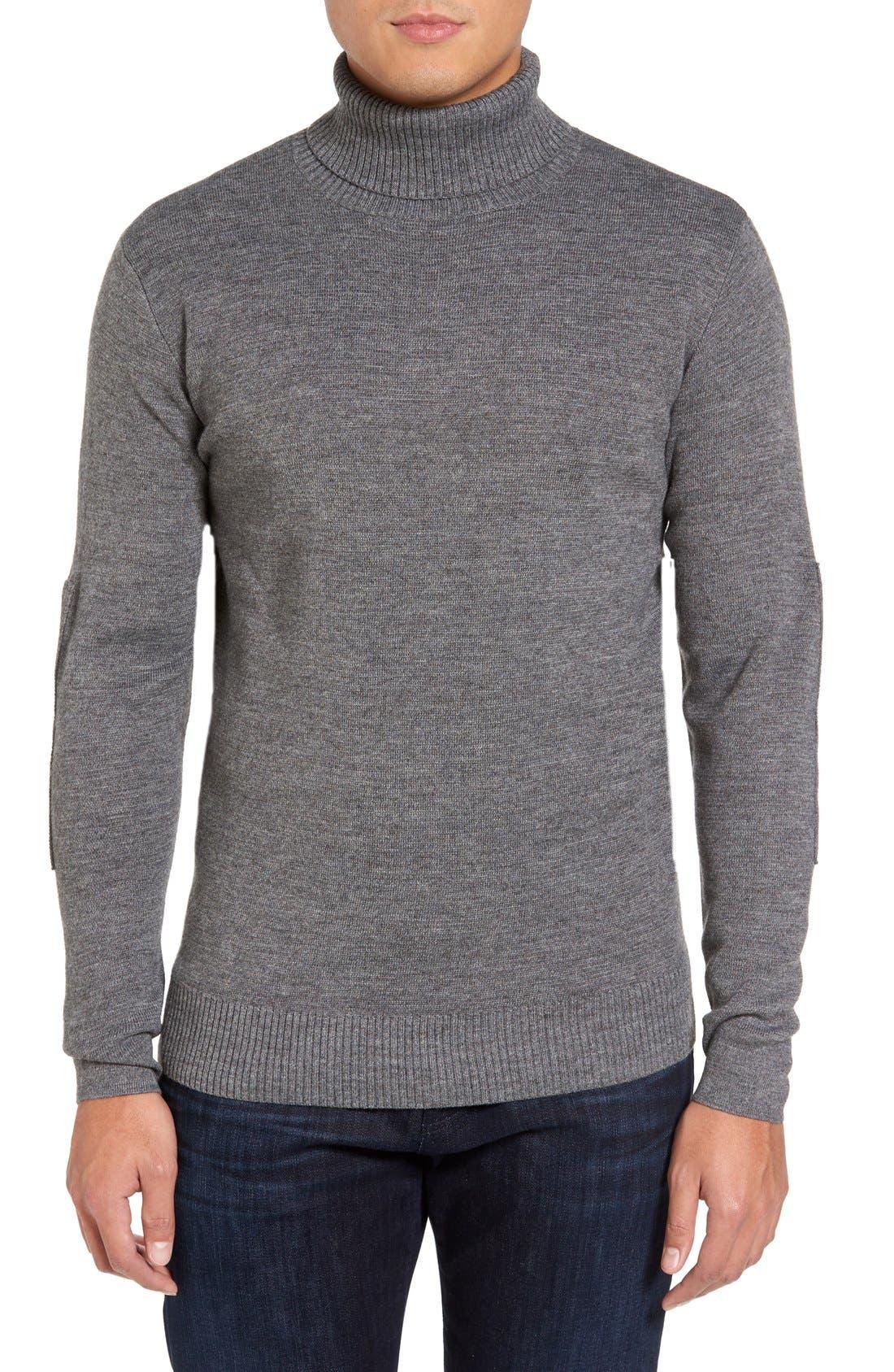 Merino Wool Blend Turtleneck Sweater,                             Main thumbnail 1, color,                             020