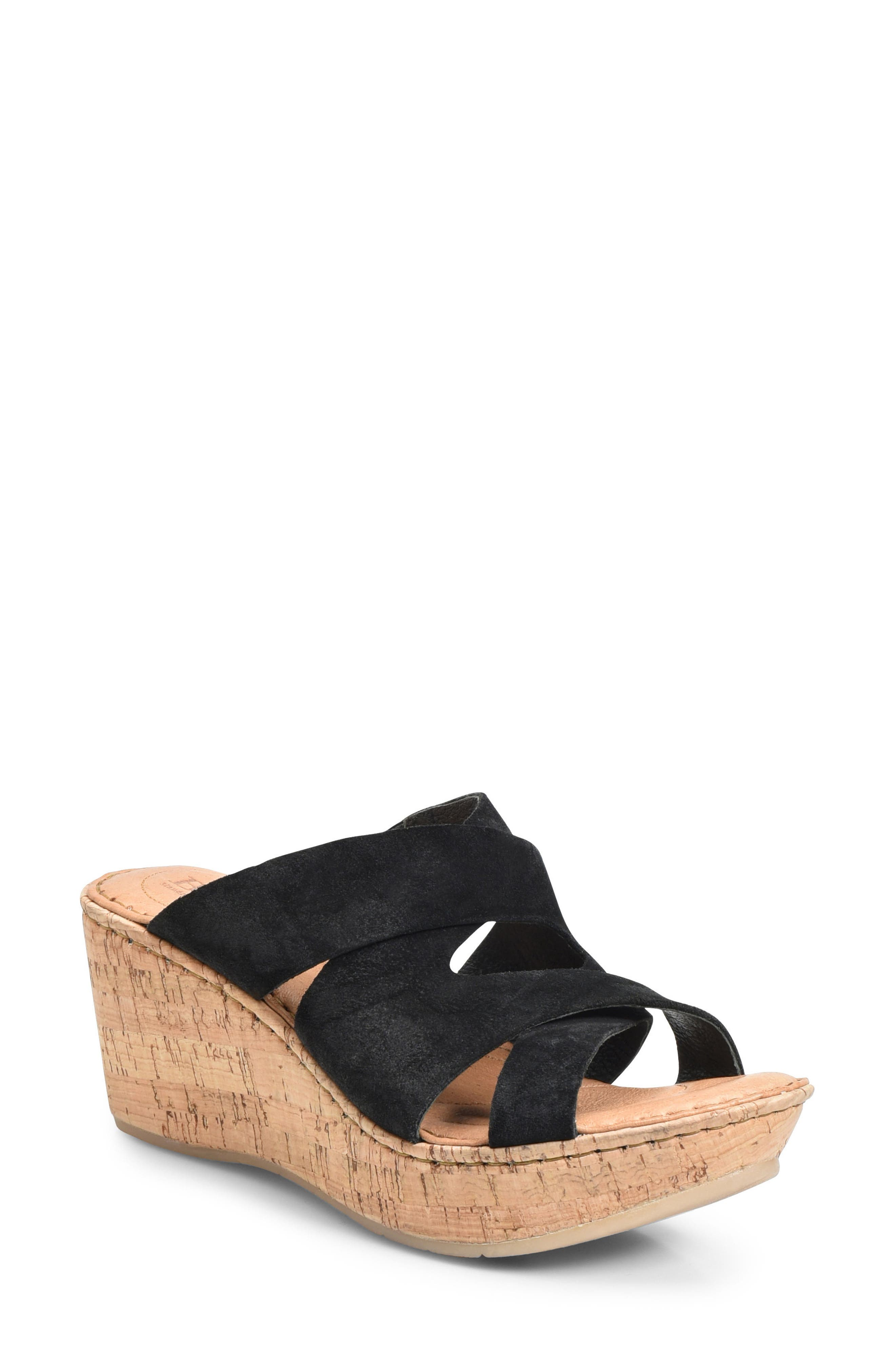 Padron Wedge Sandal,                         Main,                         color, 001
