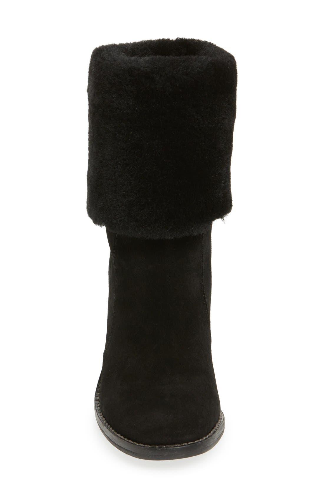 'Maira' Genuine Shearling Cuff Boot,                             Alternate thumbnail 3, color,                             002