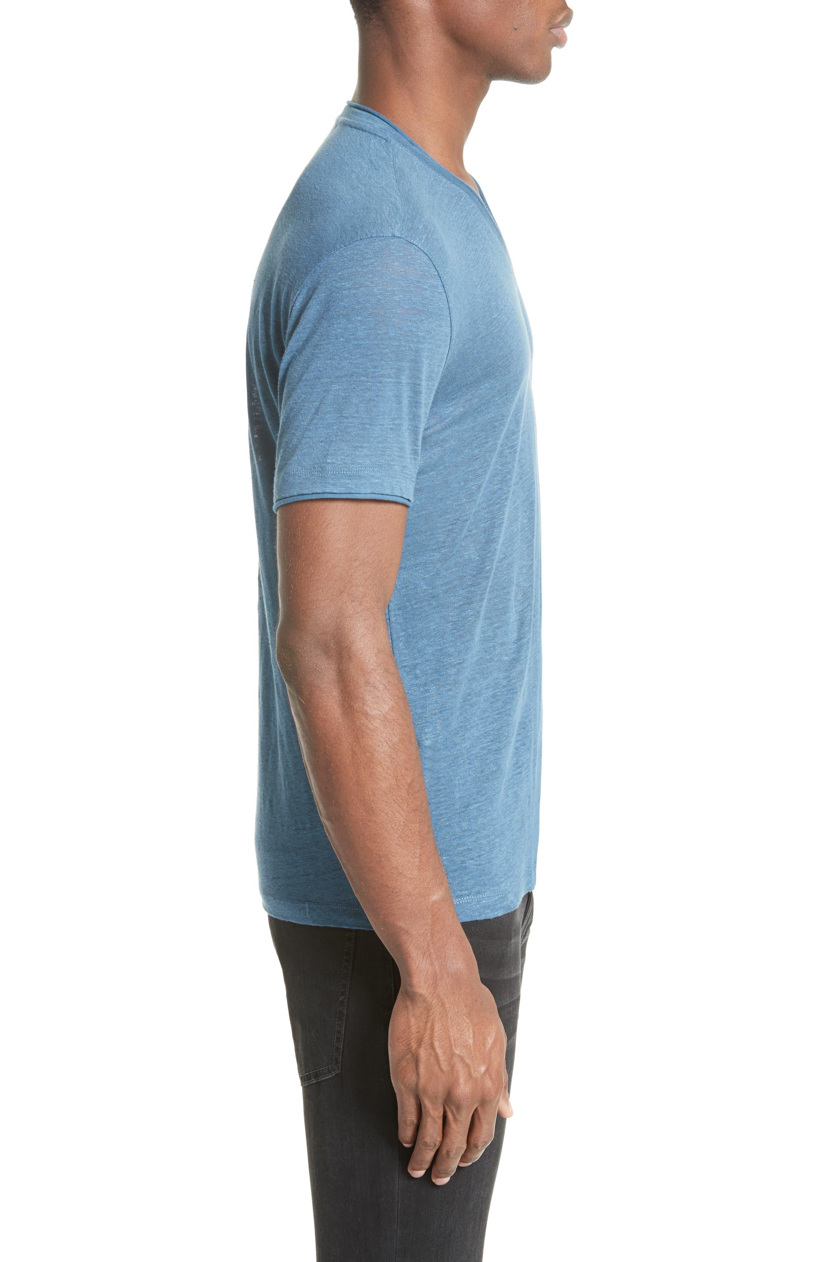 Linen T-Shirt,                             Alternate thumbnail 3, color,                             428