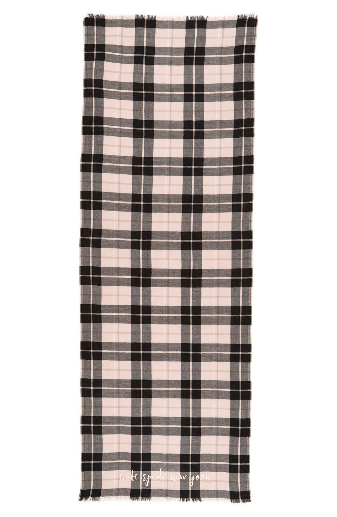 'woodland plaid' wool scarf,                             Alternate thumbnail 2, color,                             250