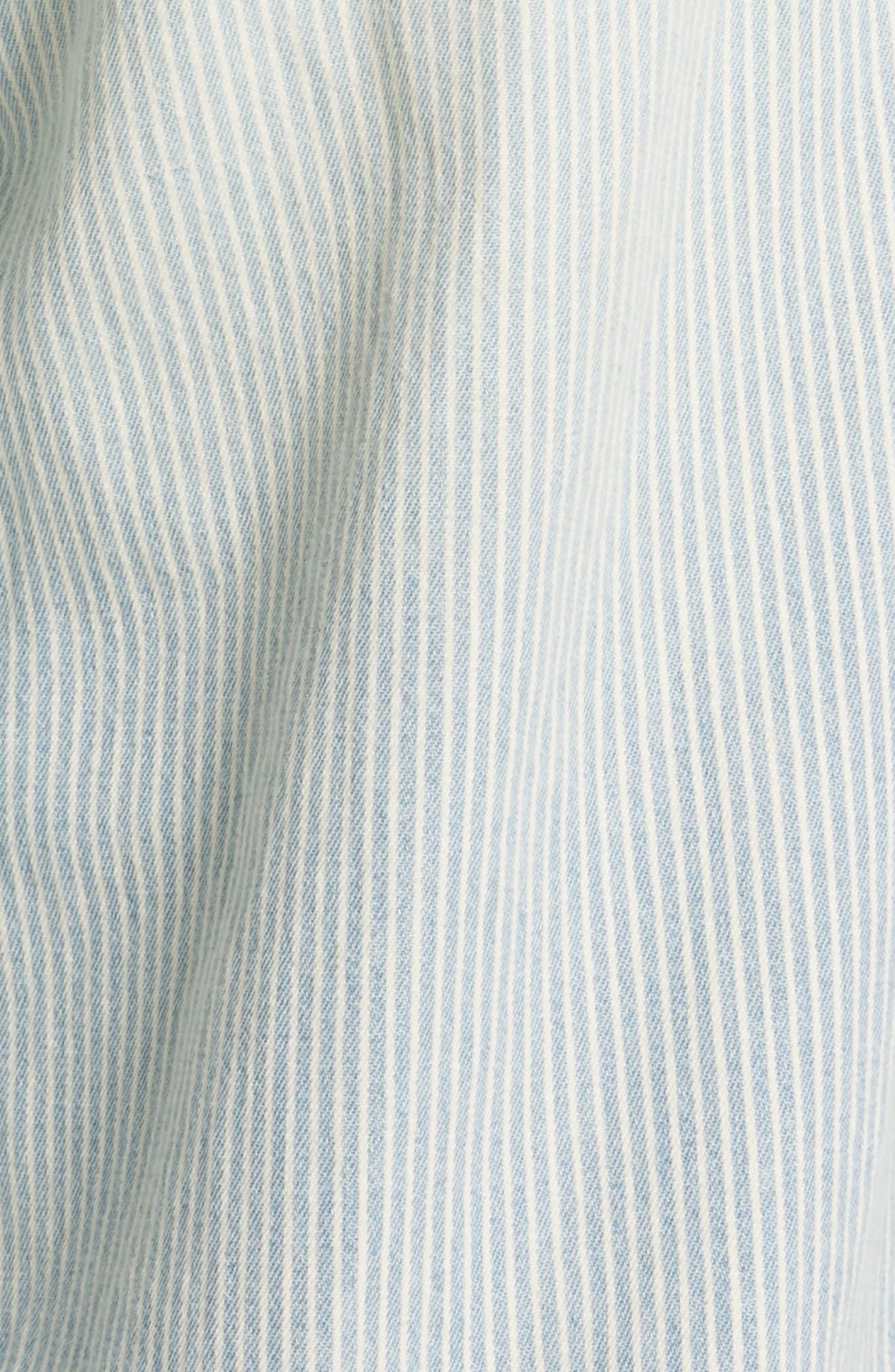 Paperbag Waist Jeans,                             Alternate thumbnail 6, color,                             RAILROAD STRIPE