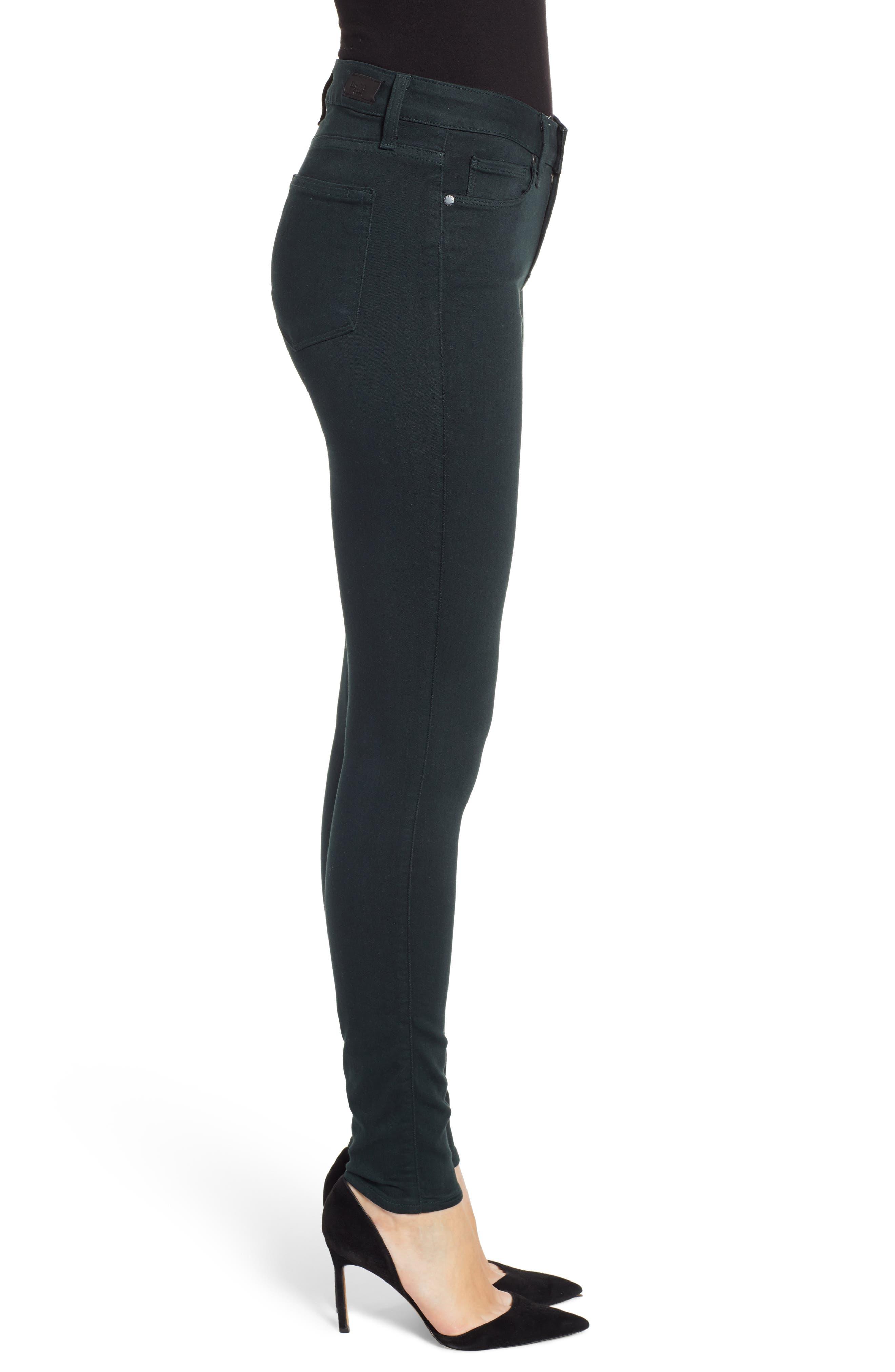 Transcend - Verdugo Ultra Skinny Jeans,                             Alternate thumbnail 3, color,                             MIDNIGHT GREEN