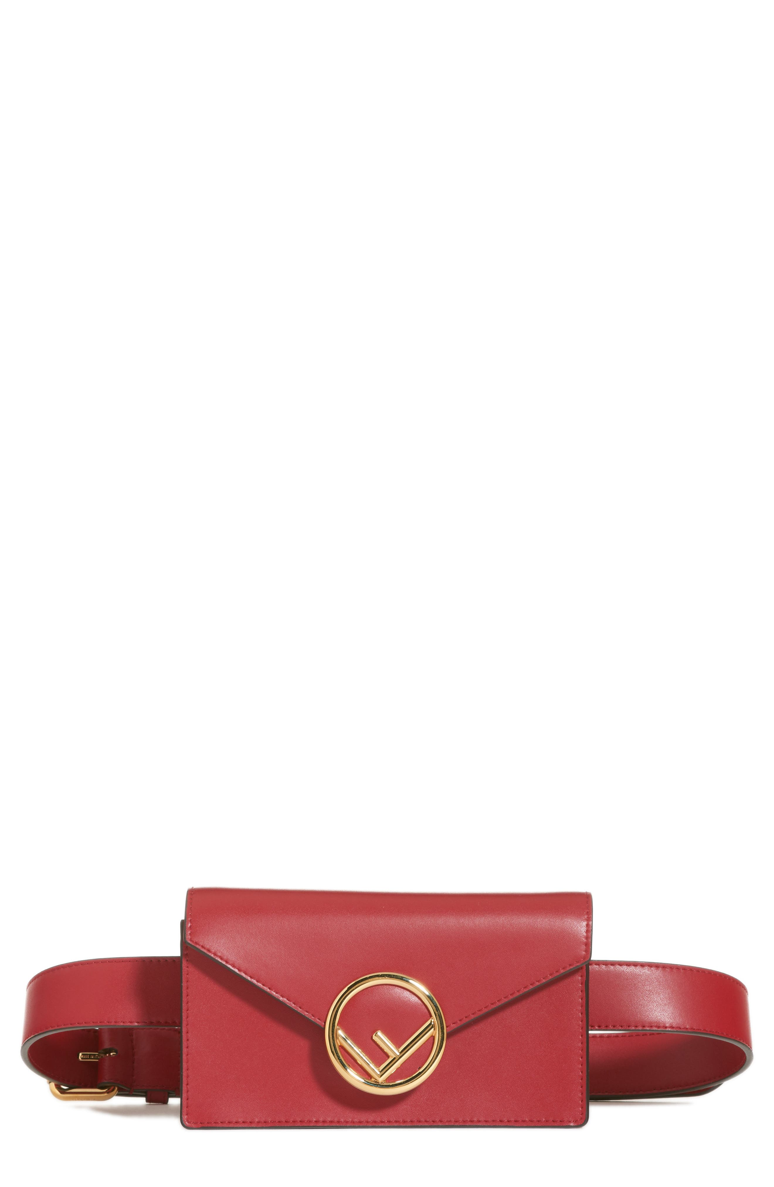 Liberty Logo Calfskin Leather Belt Bag,                         Main,                         color, 600