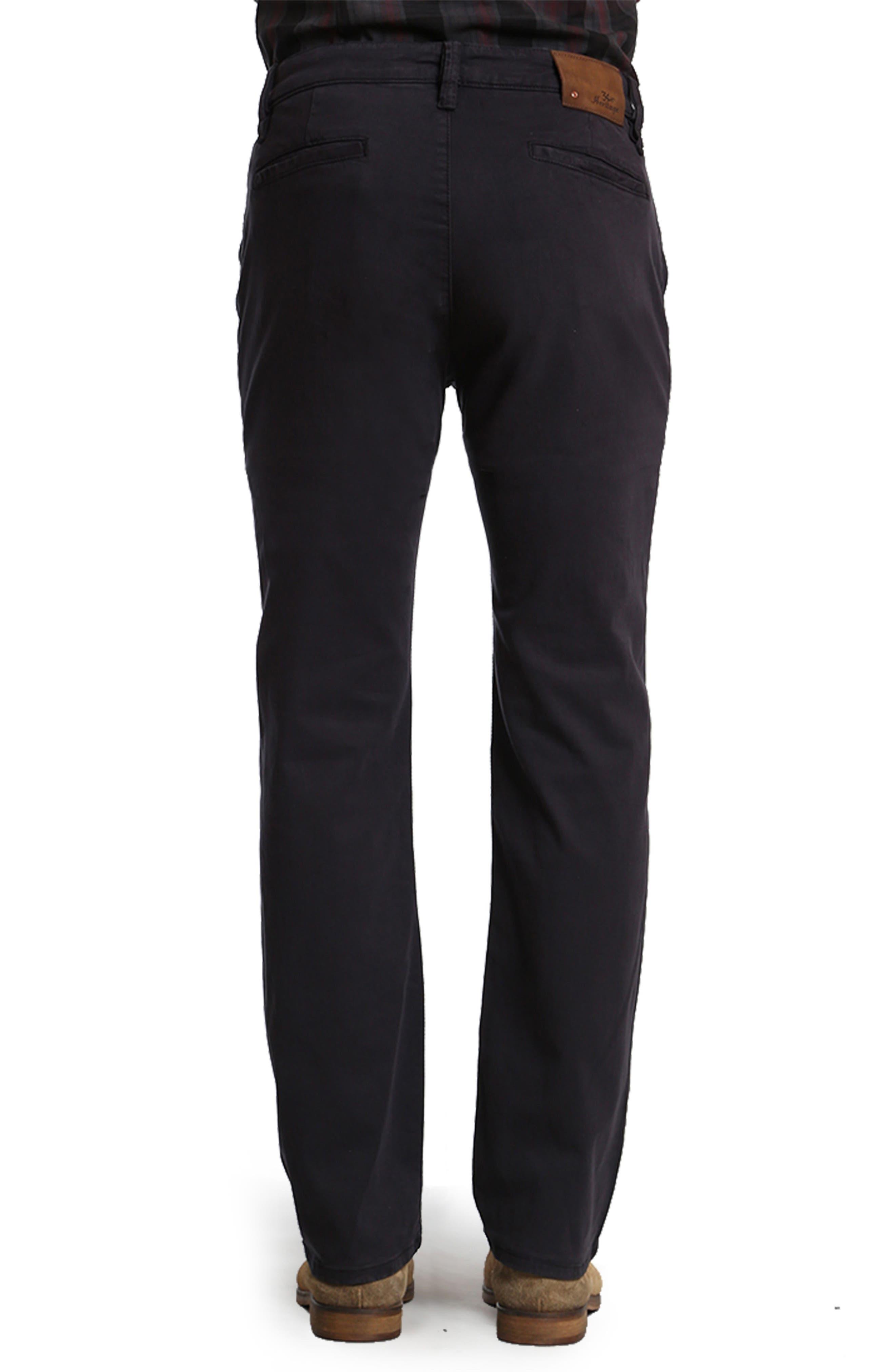 Naples Straight Leg Twill Pants,                             Alternate thumbnail 2, color,                             NAVY TWILL