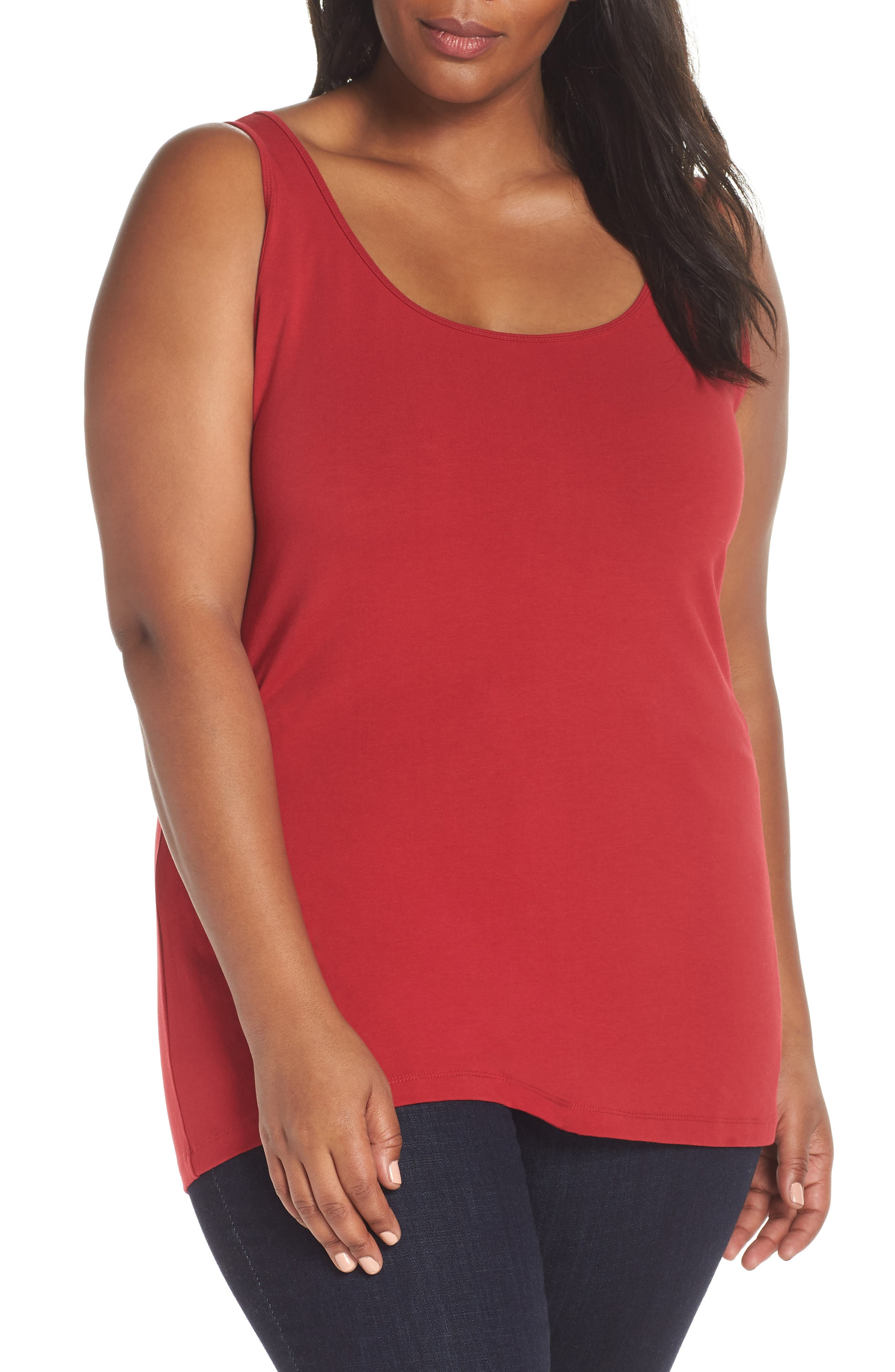 Perfect Scoop Neck Tank, Main, color, 632
