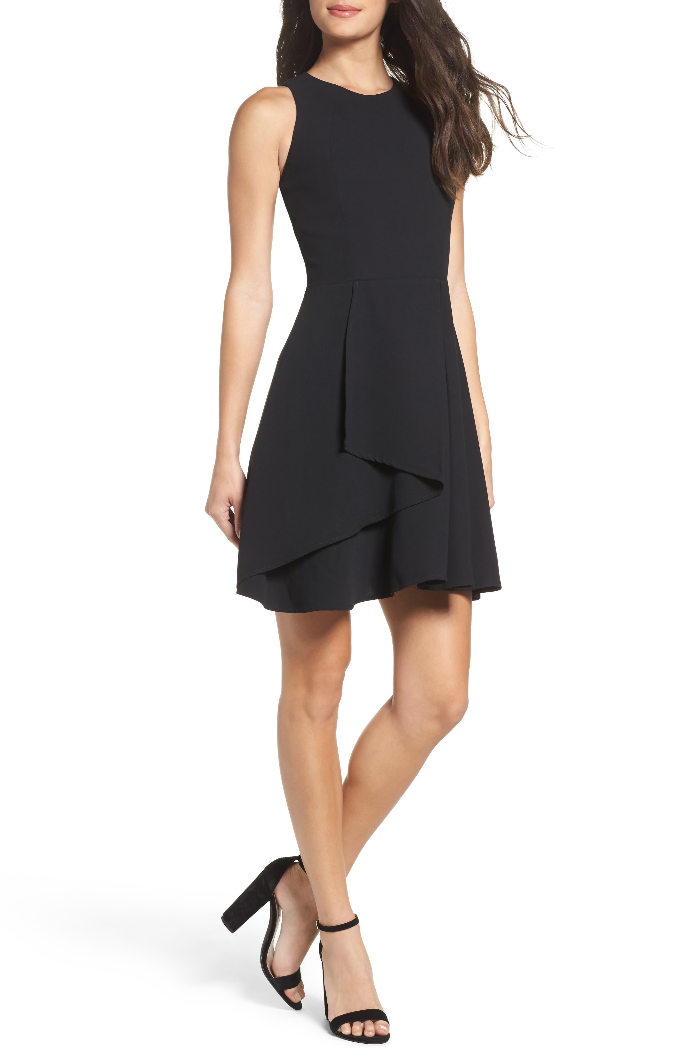 Athena Fit & Flare Dress,                             Main thumbnail 1, color,                             001