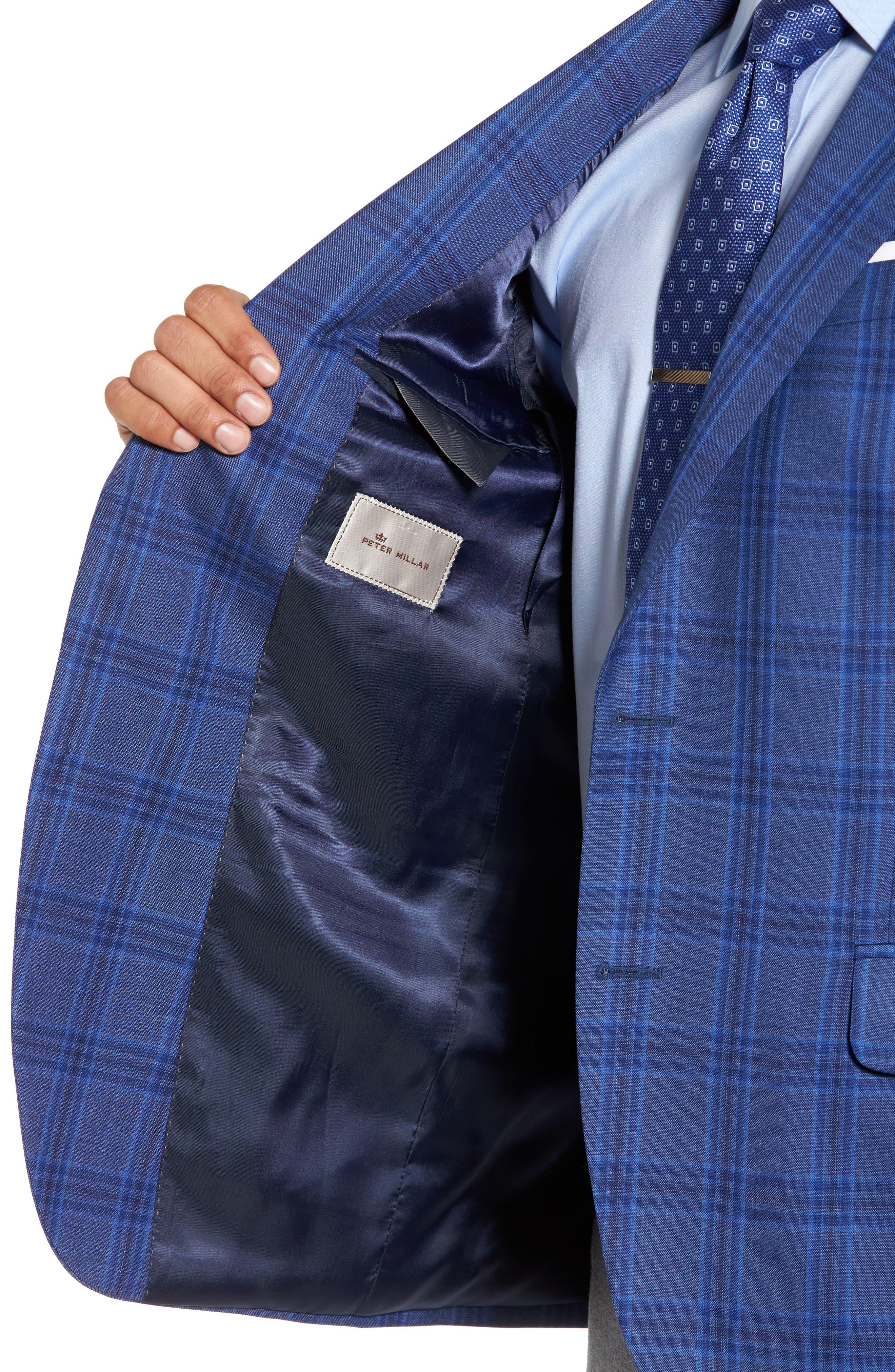 Classic Fit Plaid Wool Sport Coat,                             Alternate thumbnail 4, color,                             400