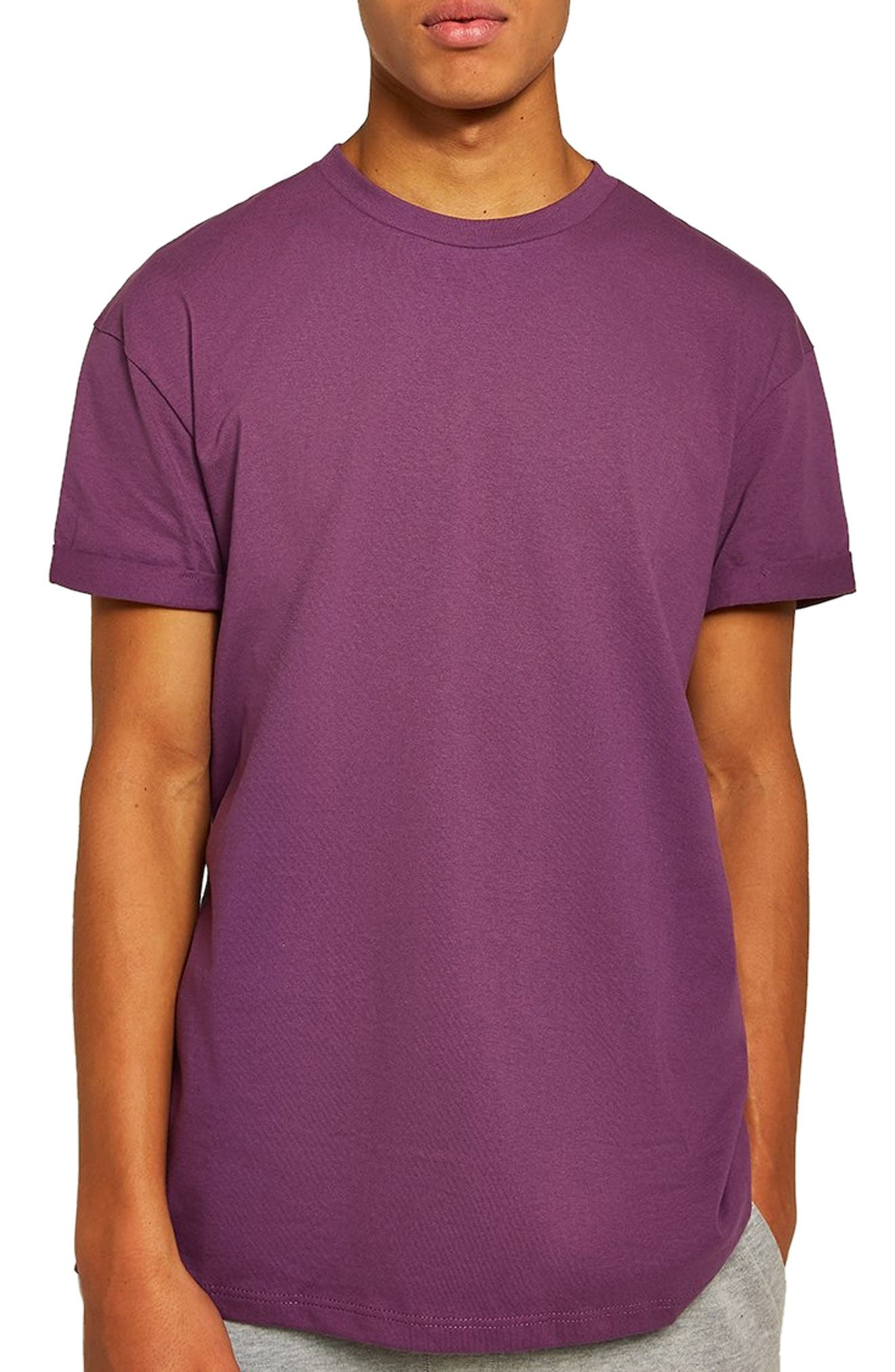 Oversize Fit Roller T-Shirt,                             Main thumbnail 1, color,                             PURPLE