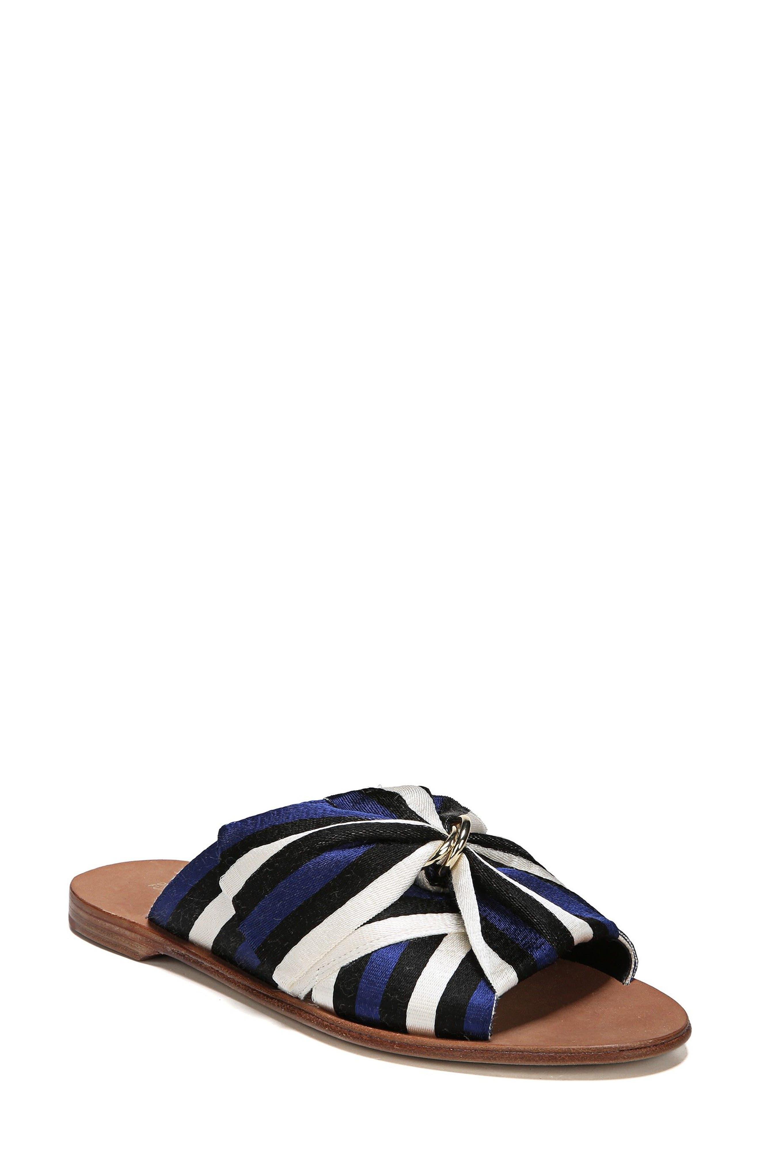 Bella Asymmetrical Slide Sandal,                             Main thumbnail 1, color,