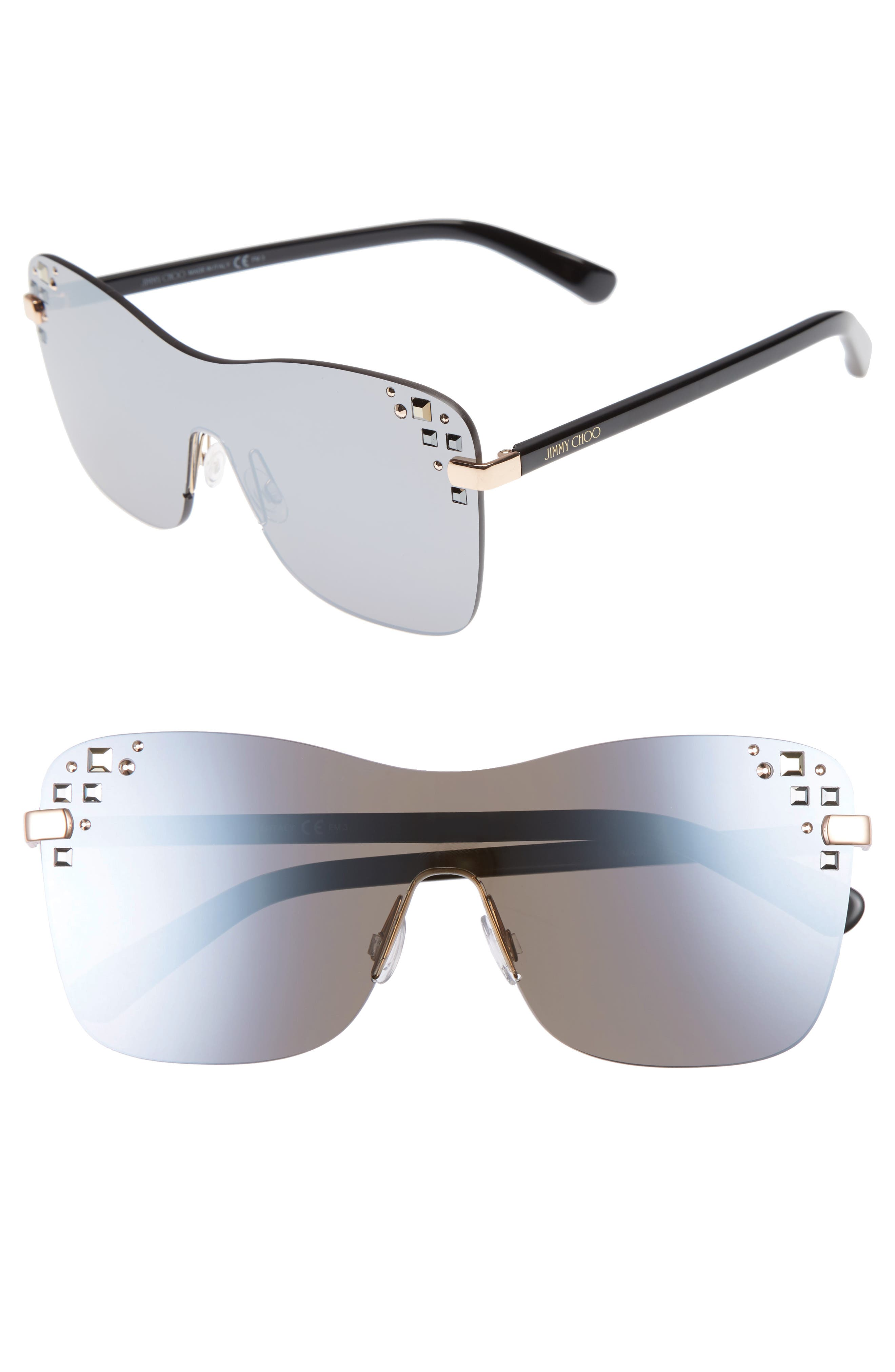Masks 63mm Rimless Shield Sunglasses,                             Main thumbnail 3, color,