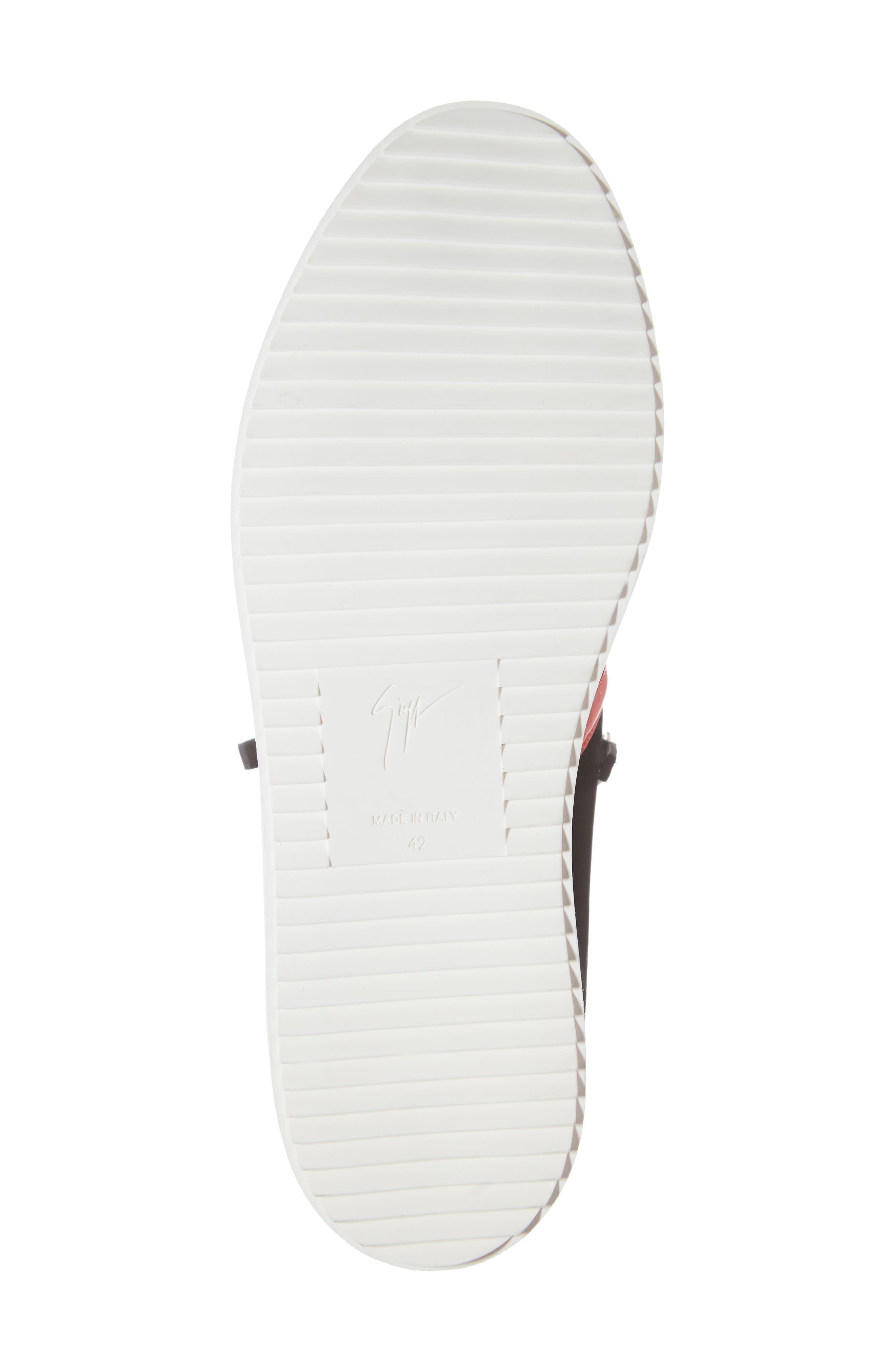 Low Top Stripe Sneaker,                             Alternate thumbnail 6, color,                             BLACK