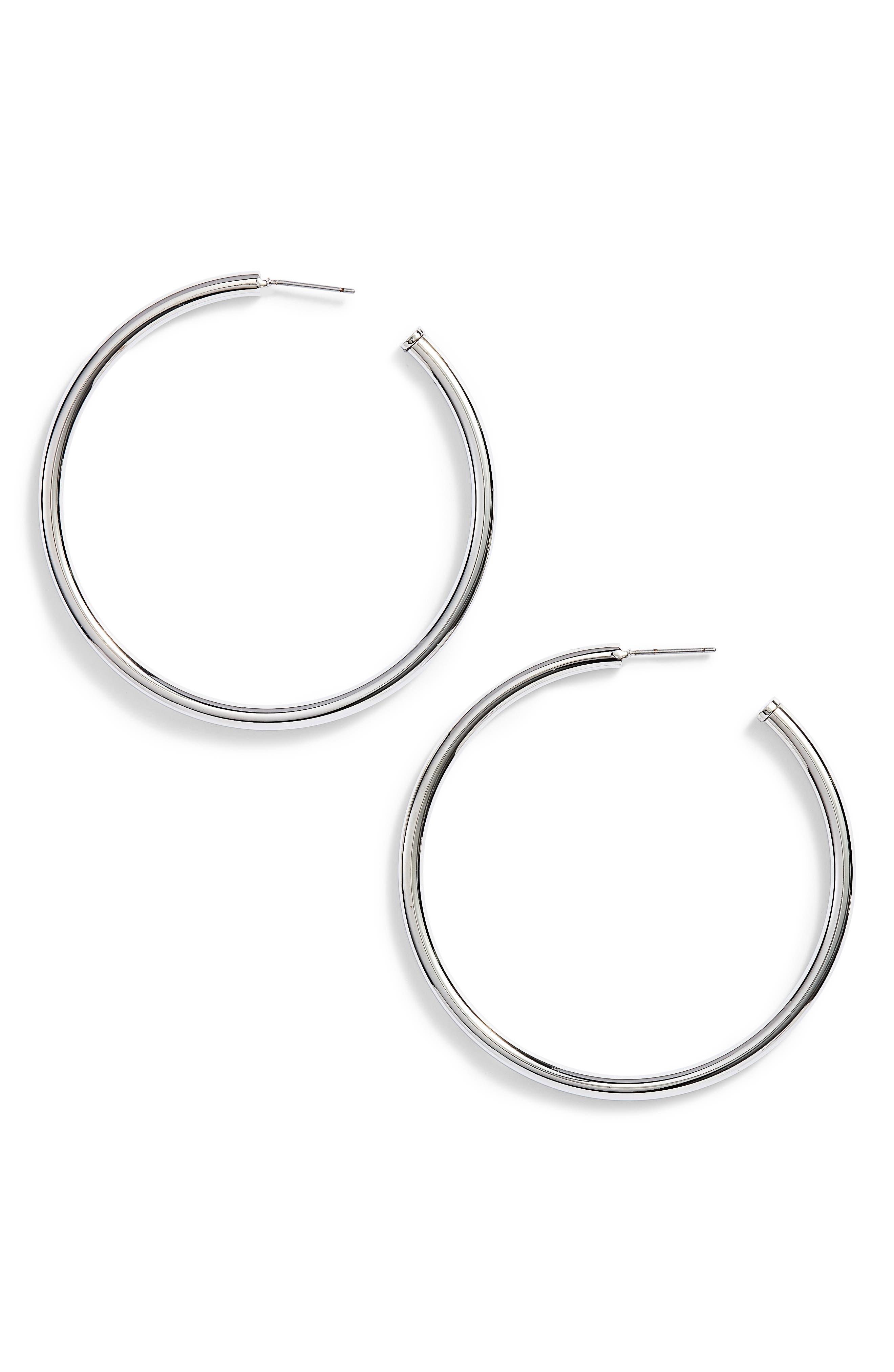 Rounded Tube Oversize Hoop Earrings,                             Main thumbnail 1, color,