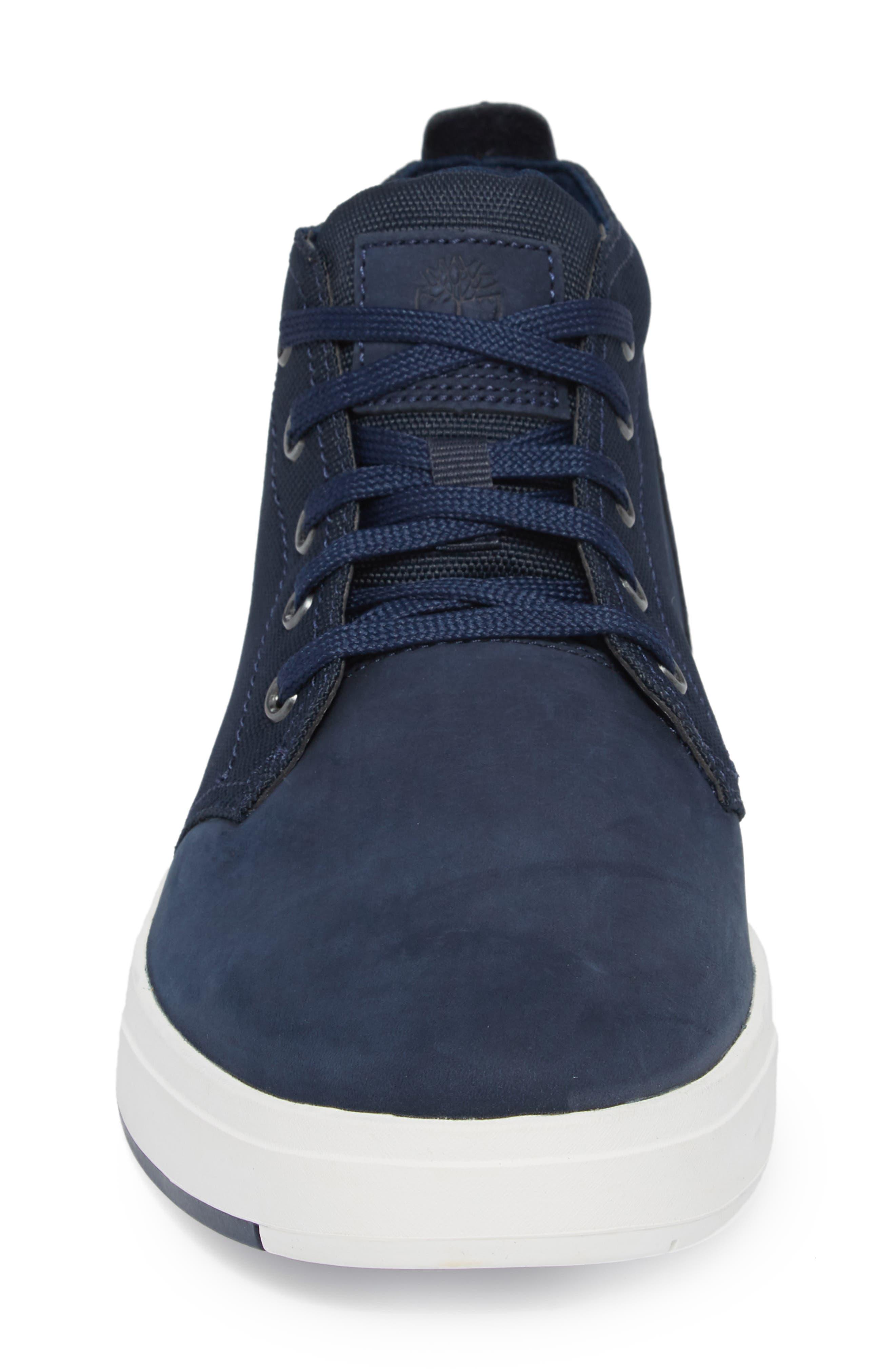 Davis Square Mid Top Sneaker,                             Alternate thumbnail 4, color,                             BLACK/ BLUE