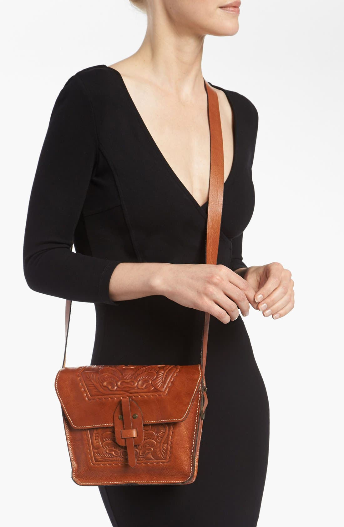 'Marciano' Leather Crossbody Bag,                             Alternate thumbnail 4, color,                             200