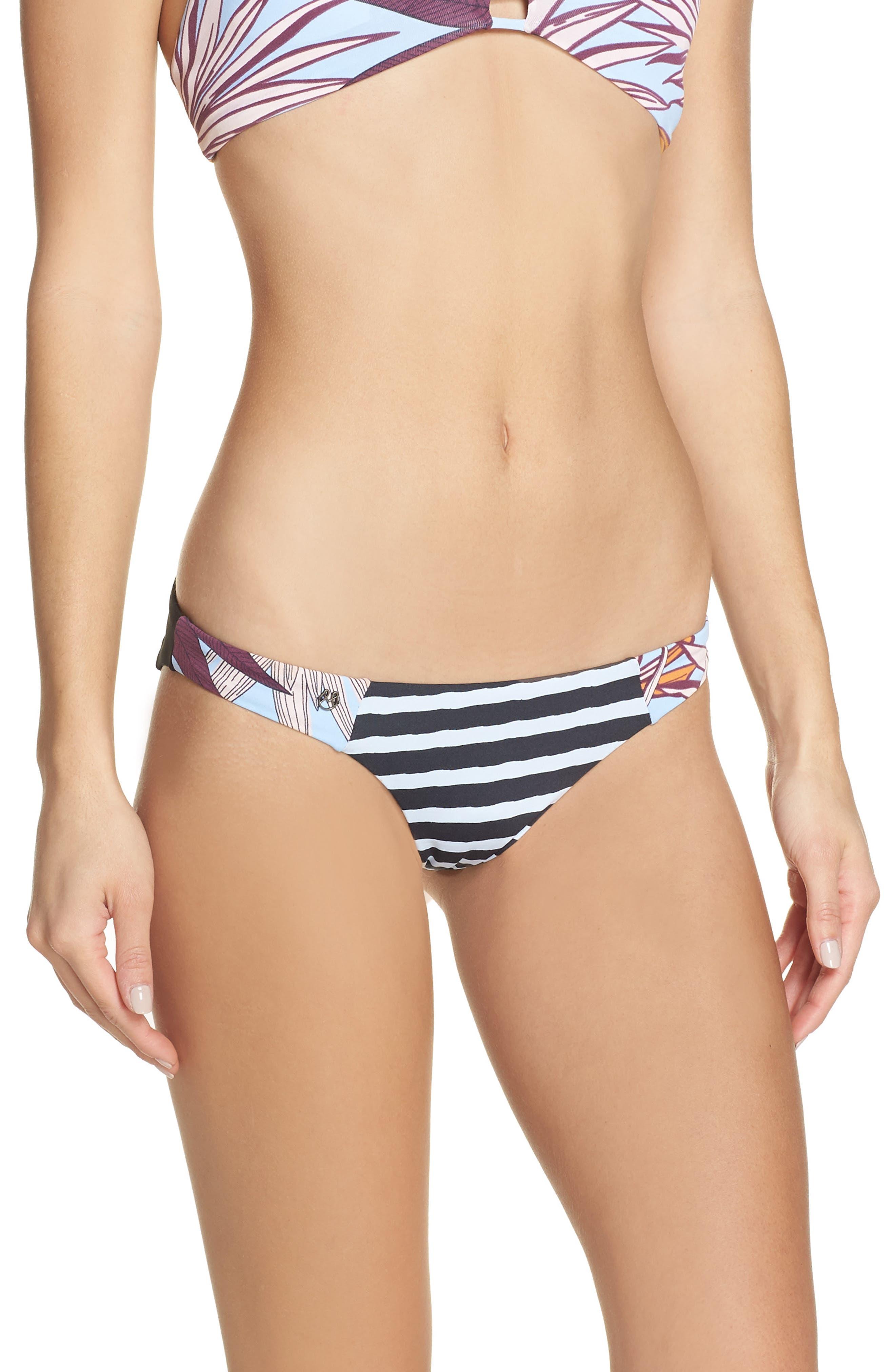 Maaji Hidden Valley Reversible Bikini Bottoms, Black