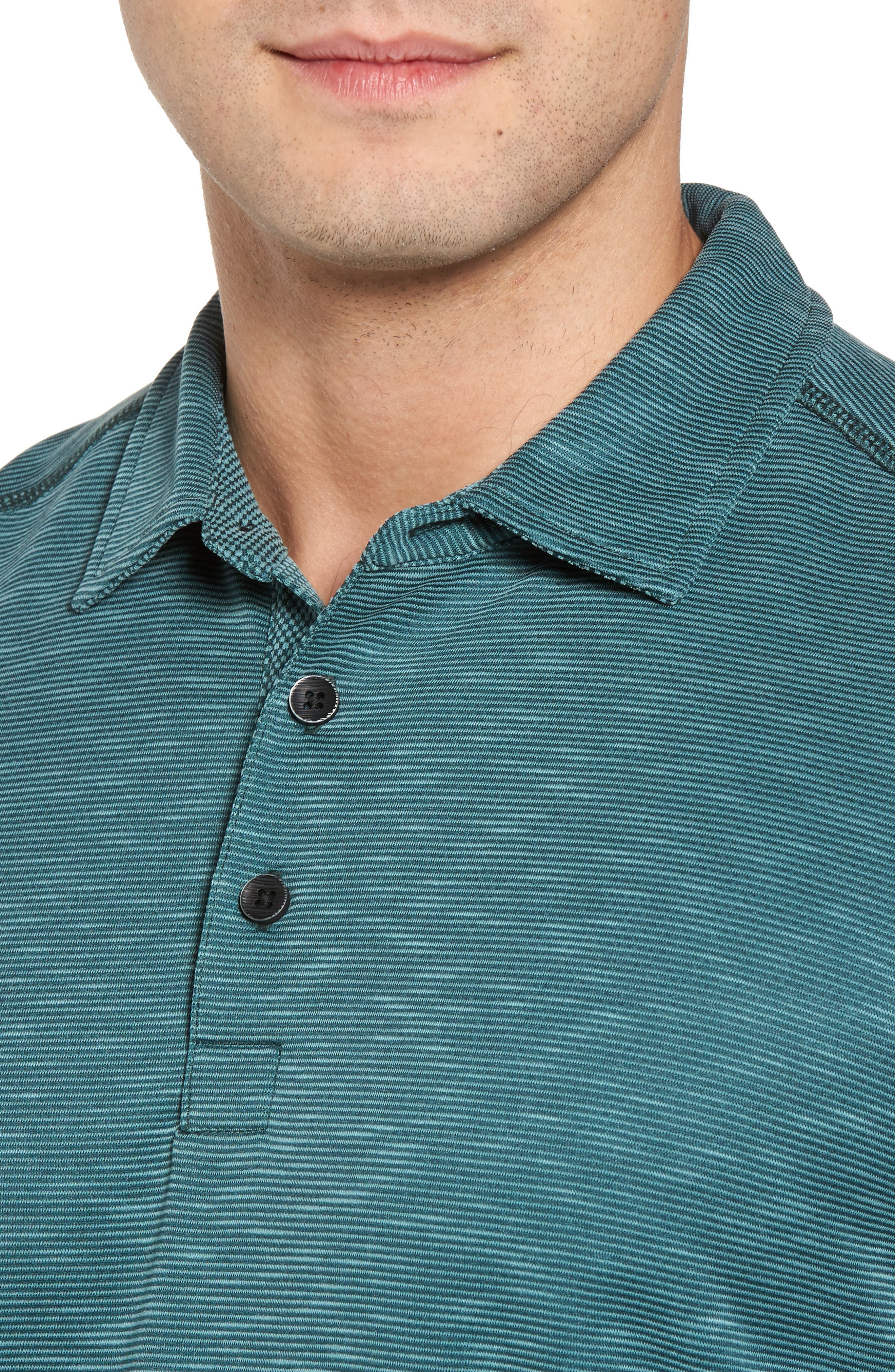 New Double Tempo Spectator Jersey Polo,                             Alternate thumbnail 4, color,                             FOREST GREEN