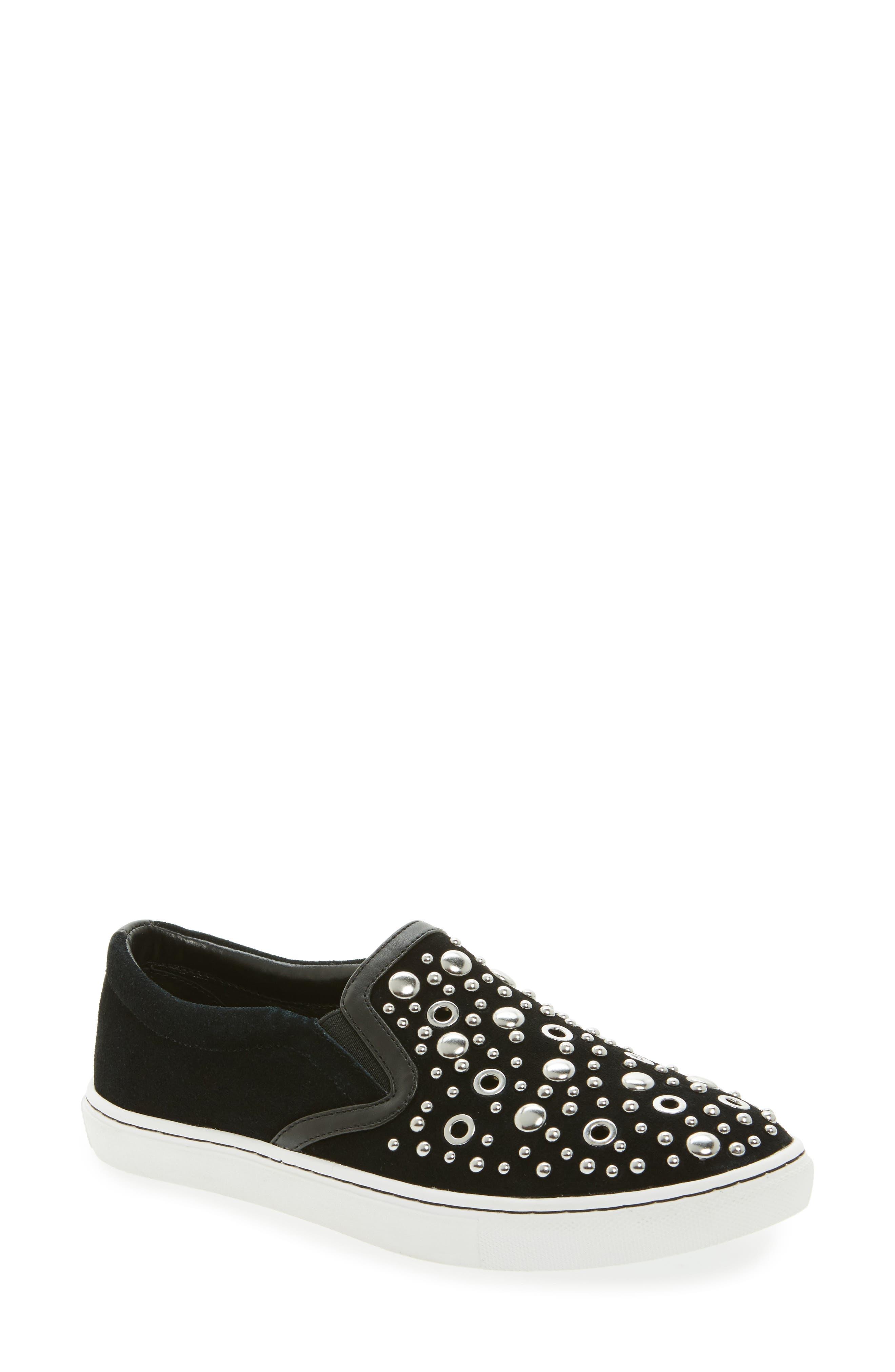 Paven Embellished Slip-On Sneaker,                             Main thumbnail 1, color,                             001