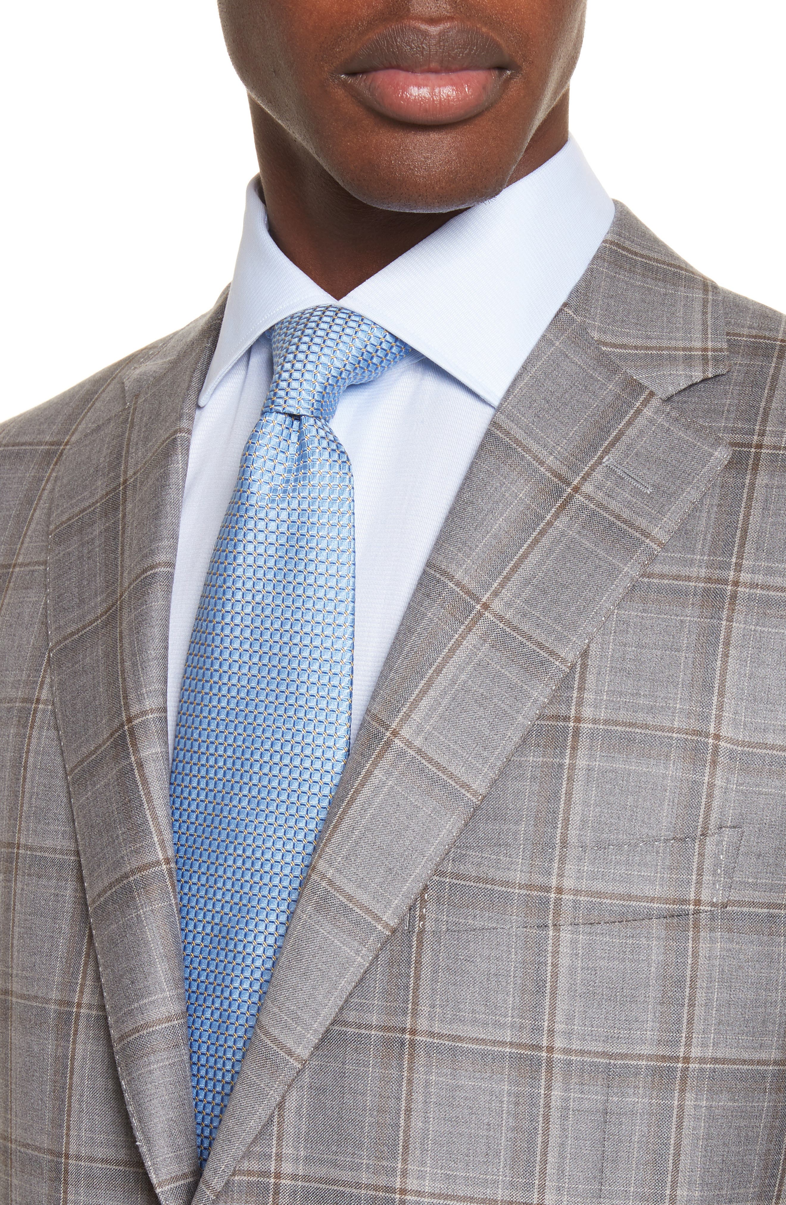 Classic Fit Plaid Wool Sport Coat,                             Alternate thumbnail 4, color,                             250