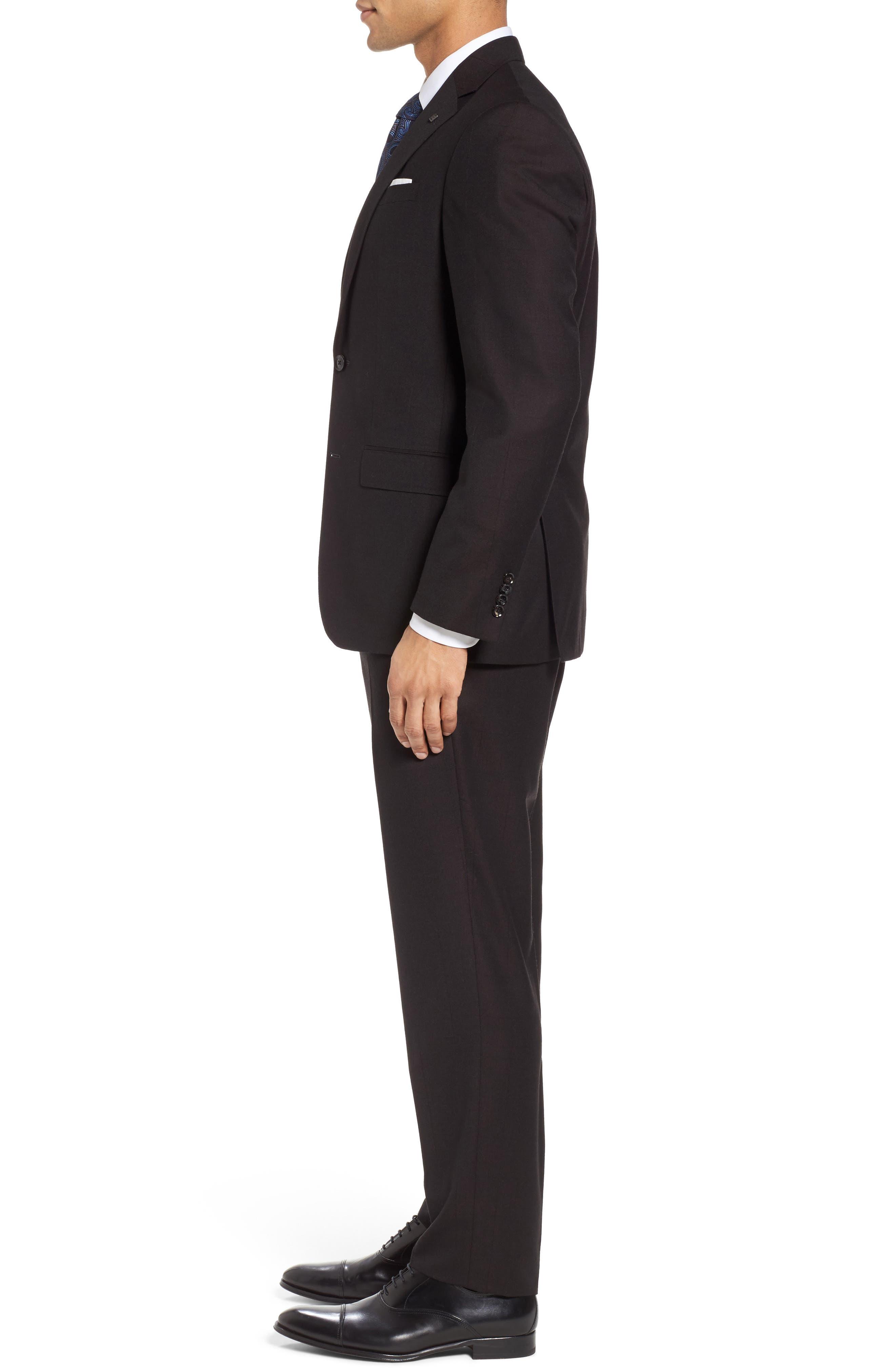 Jay Trim Fit Solid Wool Suit,                             Alternate thumbnail 3, color,                             200