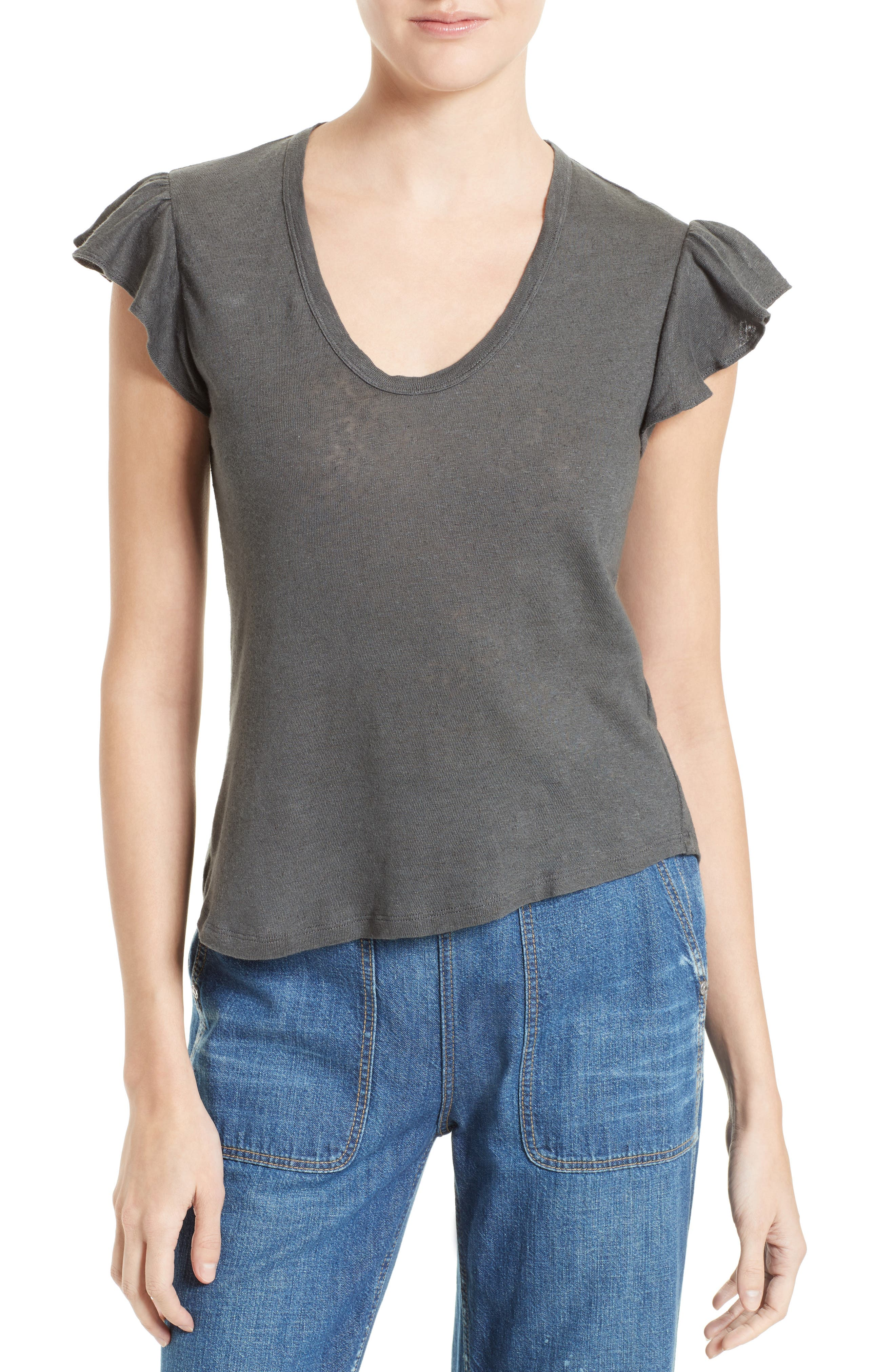 Washed Texture Jersey Tee,                             Main thumbnail 5, color,