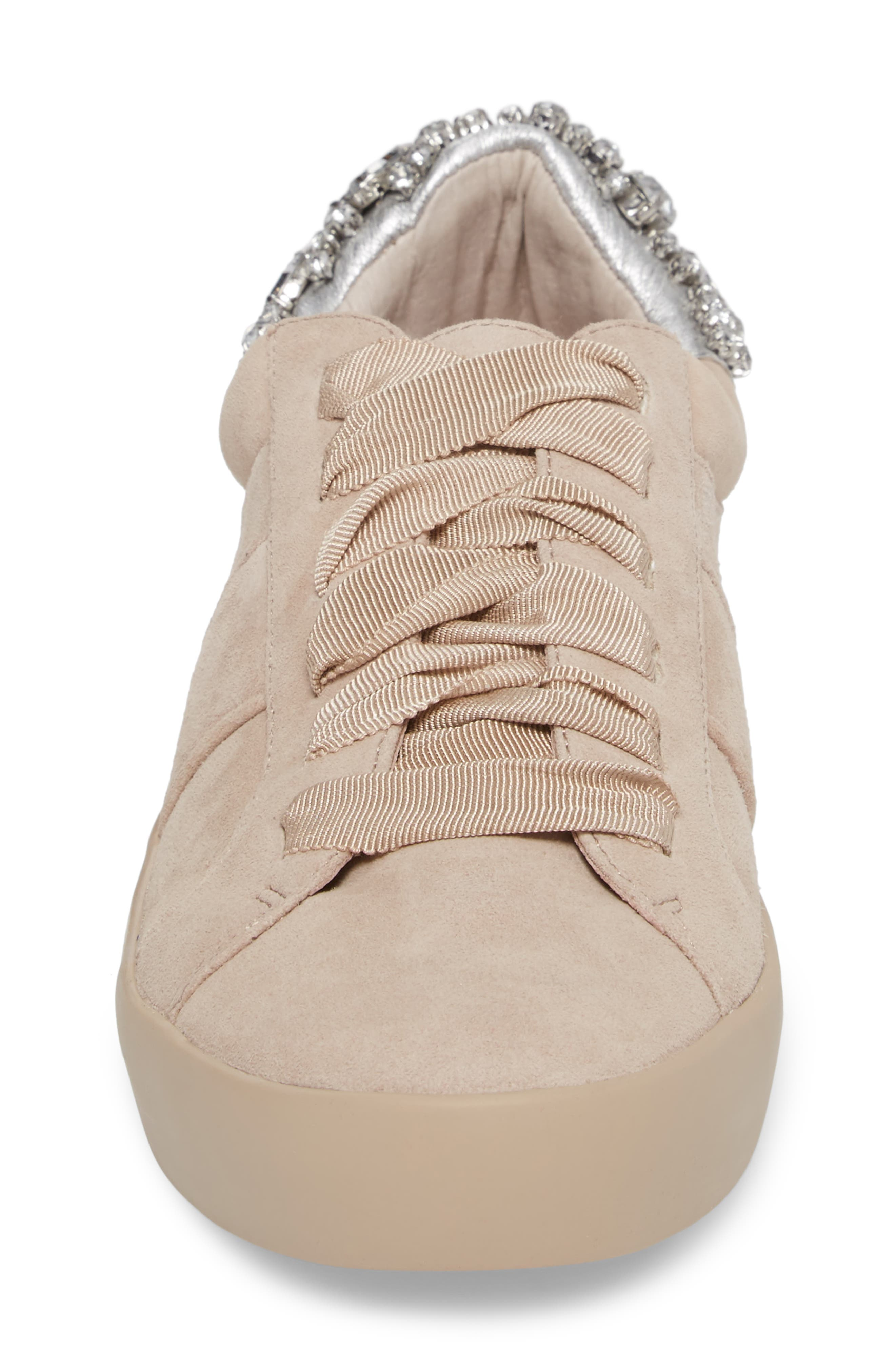Darena Crystal Embellished Sneaker,                             Alternate thumbnail 4, color,                             055