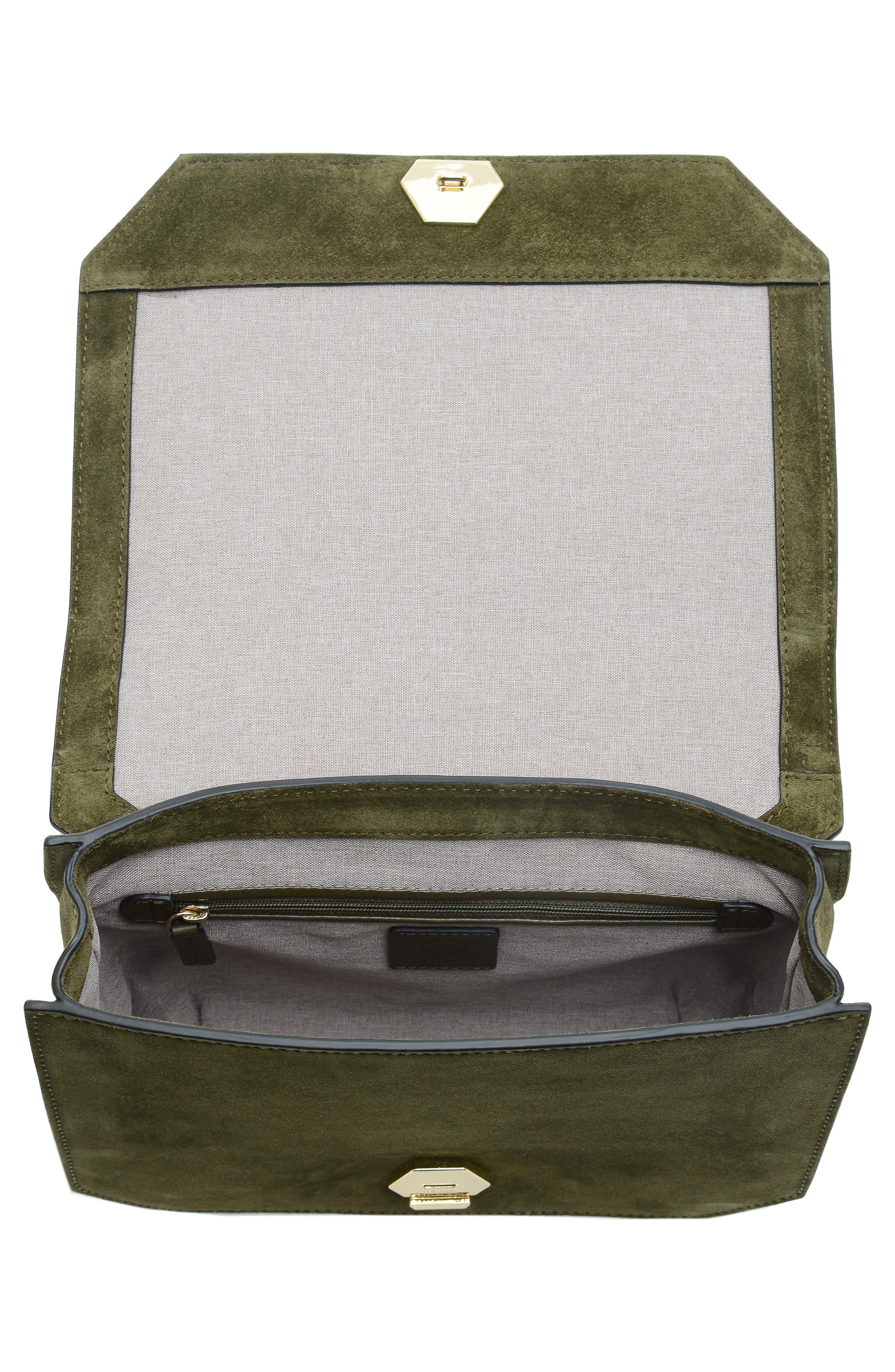 Supine Suede Shoulder Bag,                             Alternate thumbnail 4, color,                             300