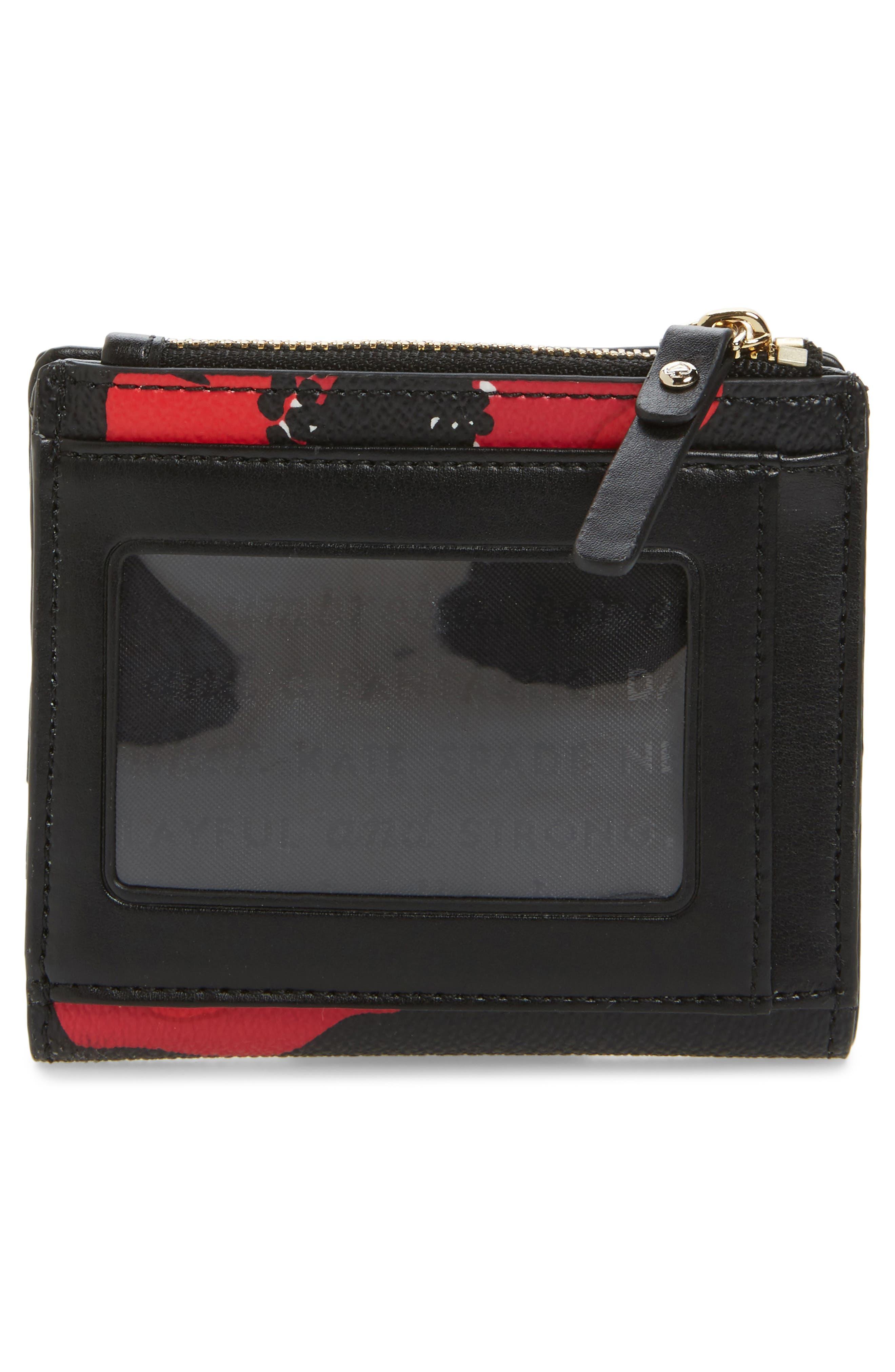 hyde lane poppy adalyn leather wallet,                             Alternate thumbnail 4, color,                             001