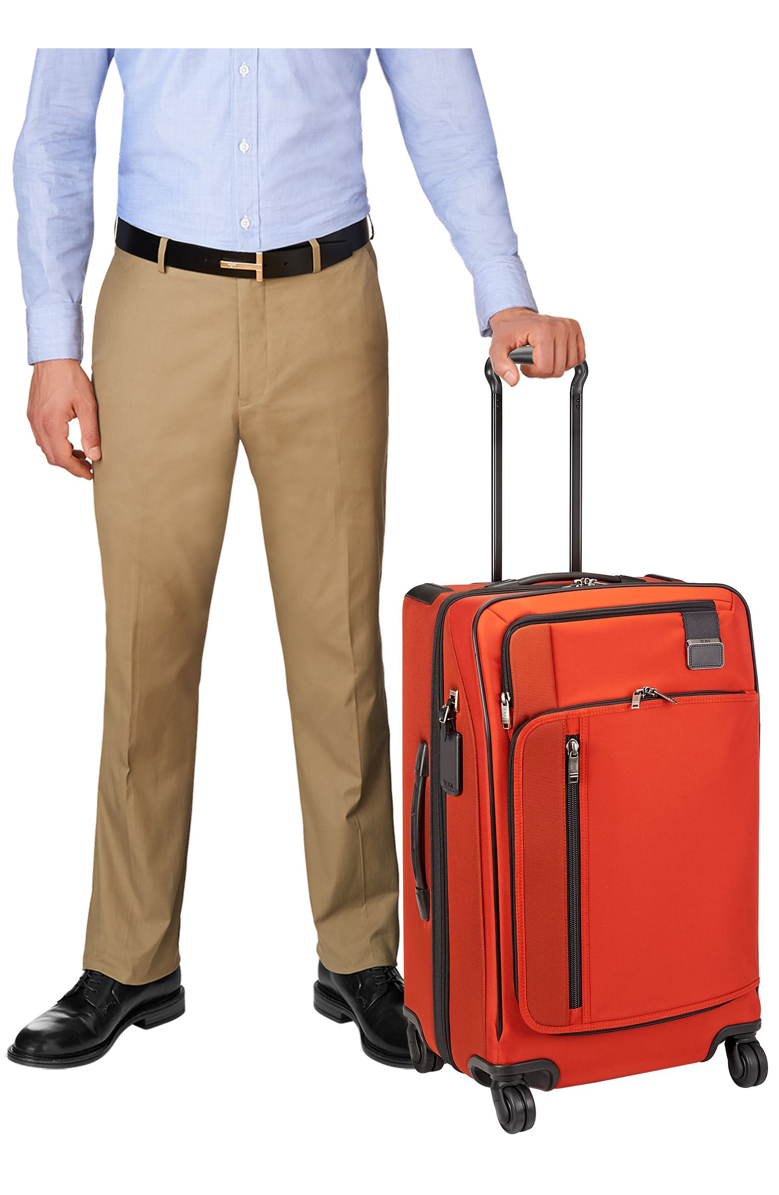 Merge - Short Trip Expandable Rolling Suitcase,                             Alternate thumbnail 6, color,                             SUNSET RED