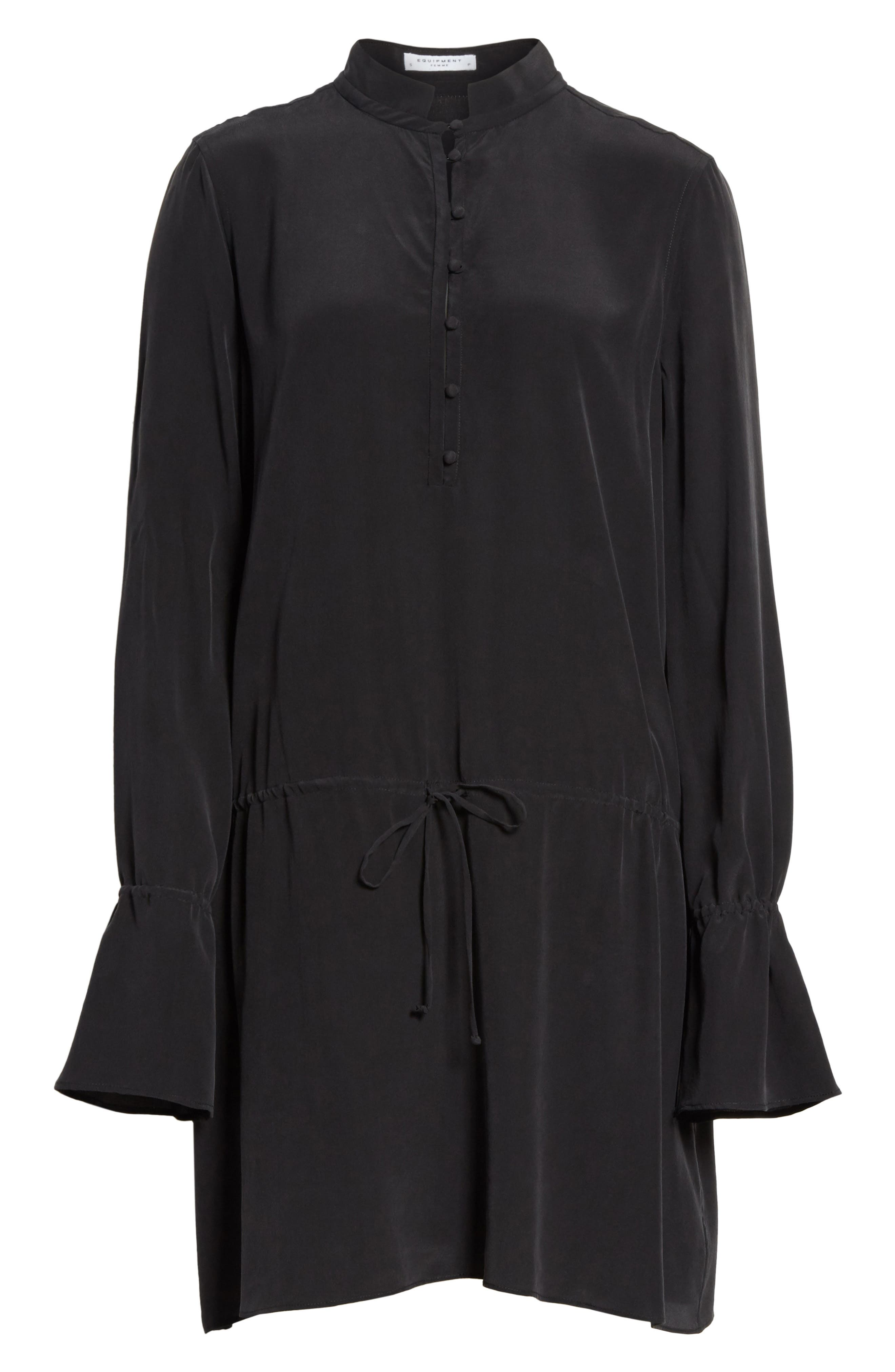 Trista Silk Dress,                             Alternate thumbnail 6, color,                             003