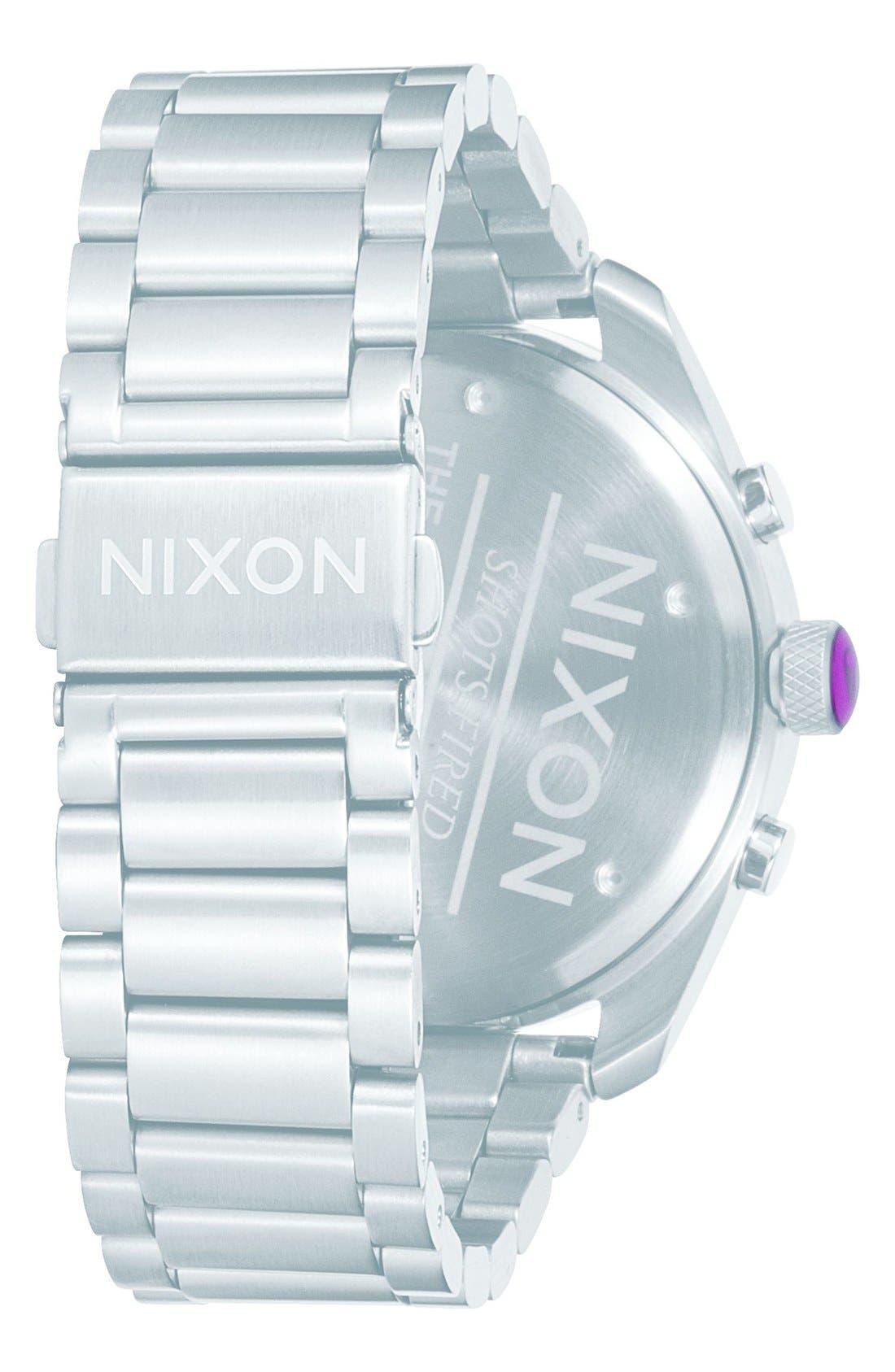 'Bullet' Guilloche Chronograph Bracelet Watch, 42mm,                             Alternate thumbnail 7, color,