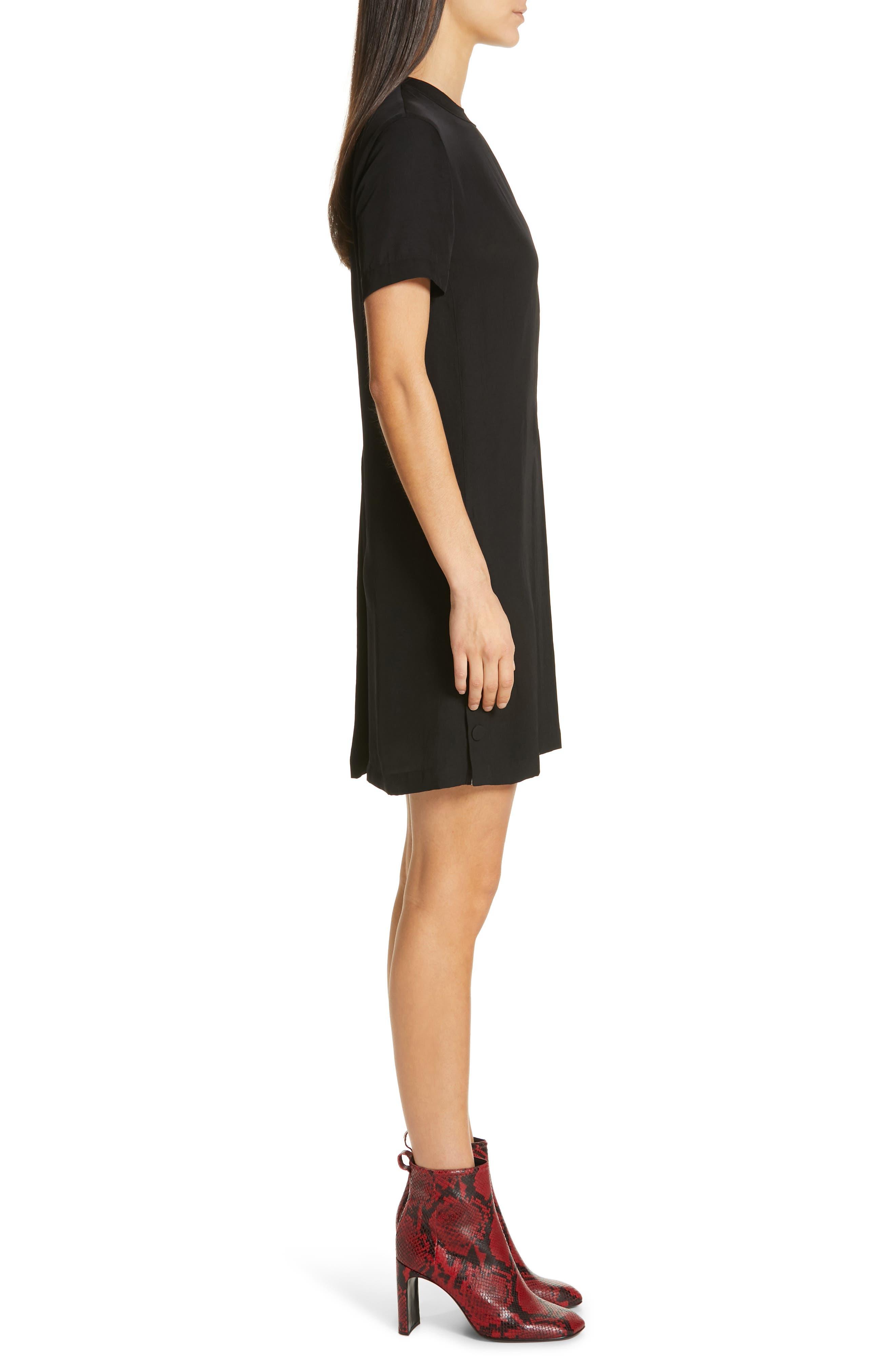 RAG & BONE,                             Aiden T-Shirt Dress,                             Alternate thumbnail 4, color,                             BLACK