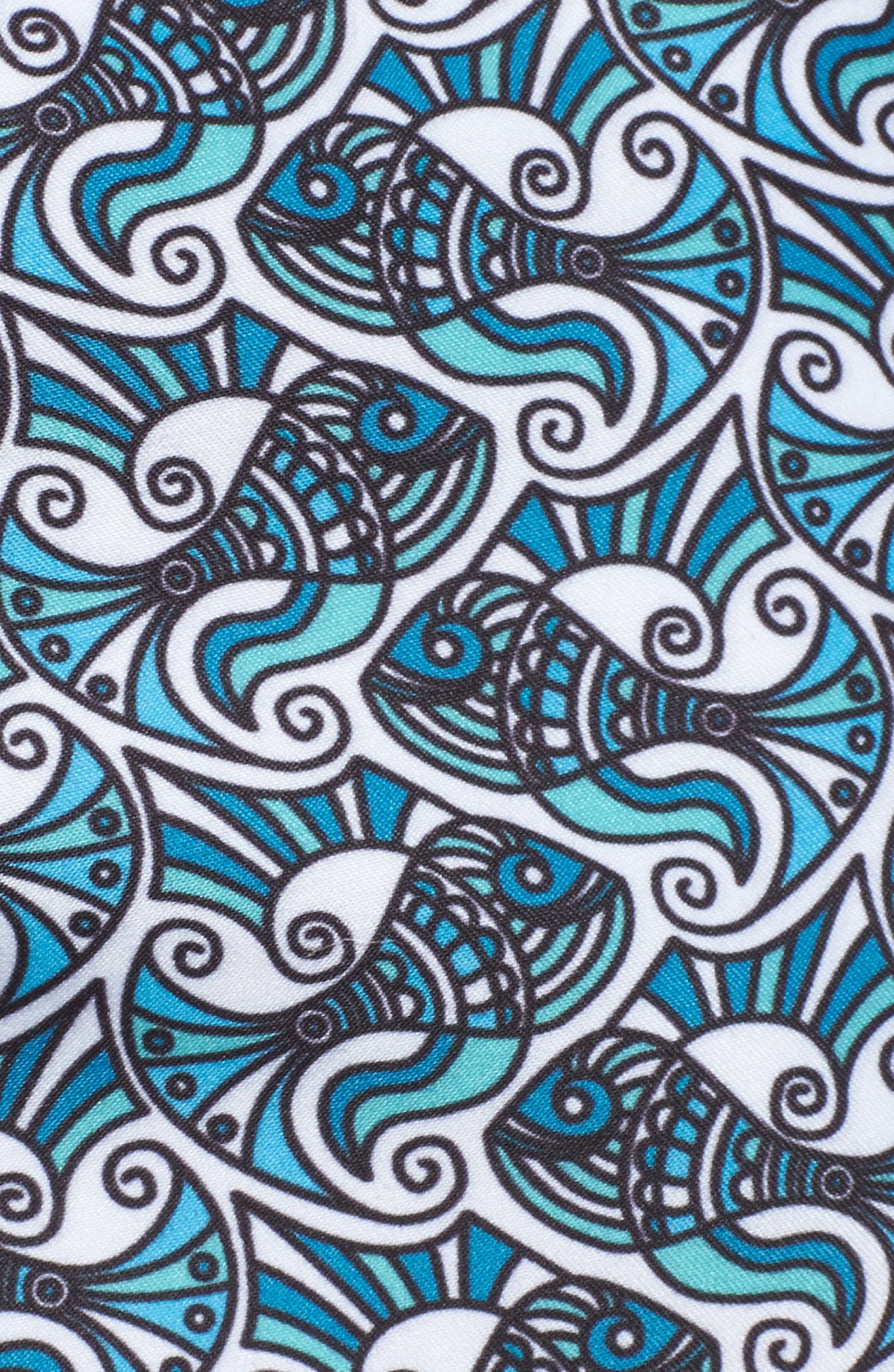 Mr. Swim Fish Swirls Print Swim Trunks,                             Alternate thumbnail 5, color,                             440