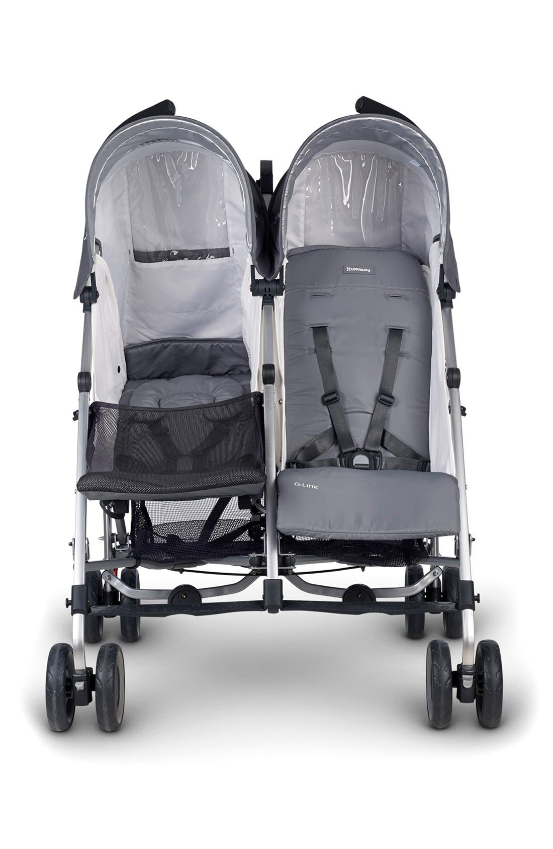 G-LINK Pascal Aluminum Frame Reclining Side by Side Umbrella Stroller,                             Alternate thumbnail 2, color,                             grey