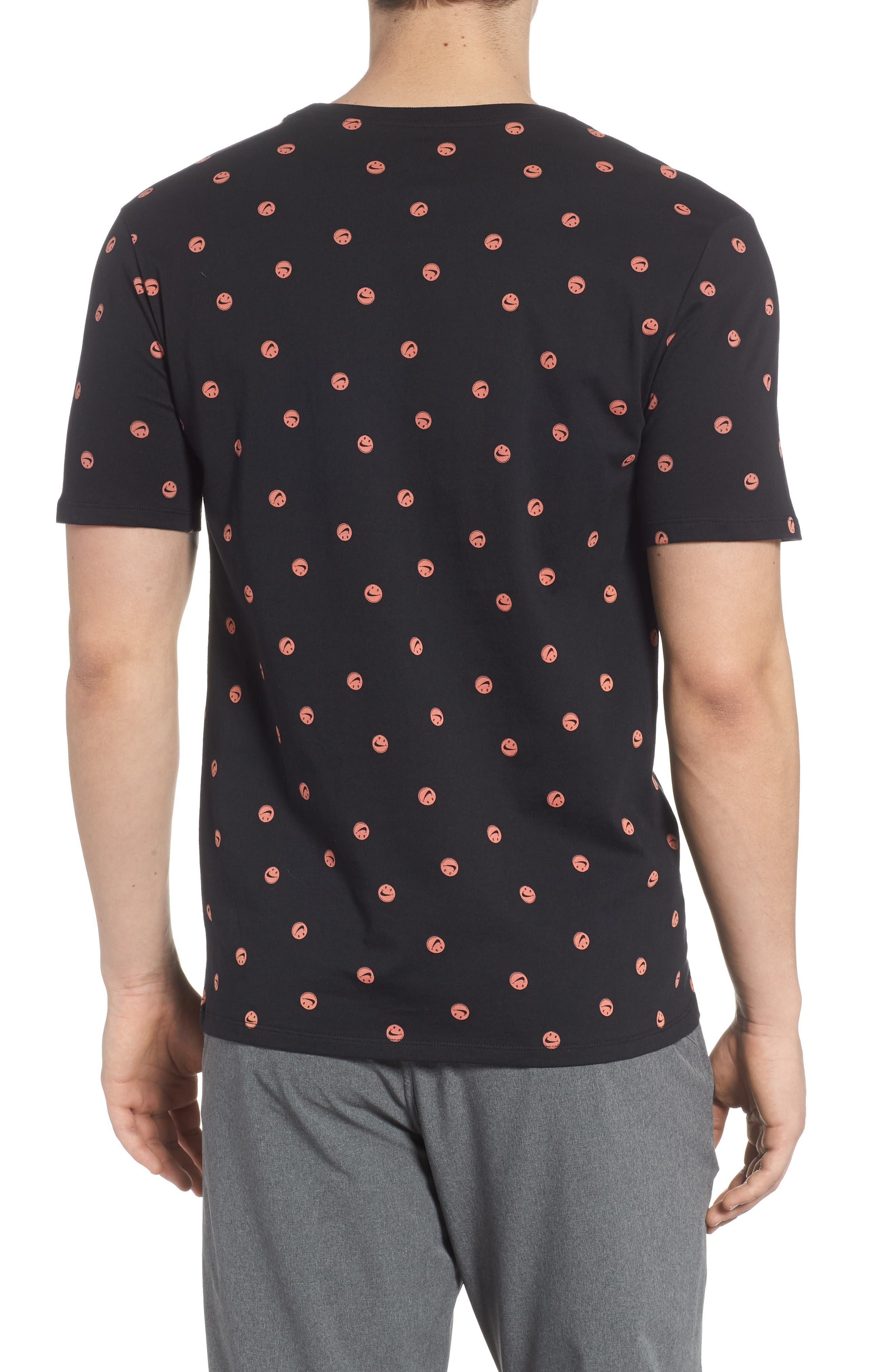 Sportswear Smiley Print T-Shirt,                             Alternate thumbnail 2, color,